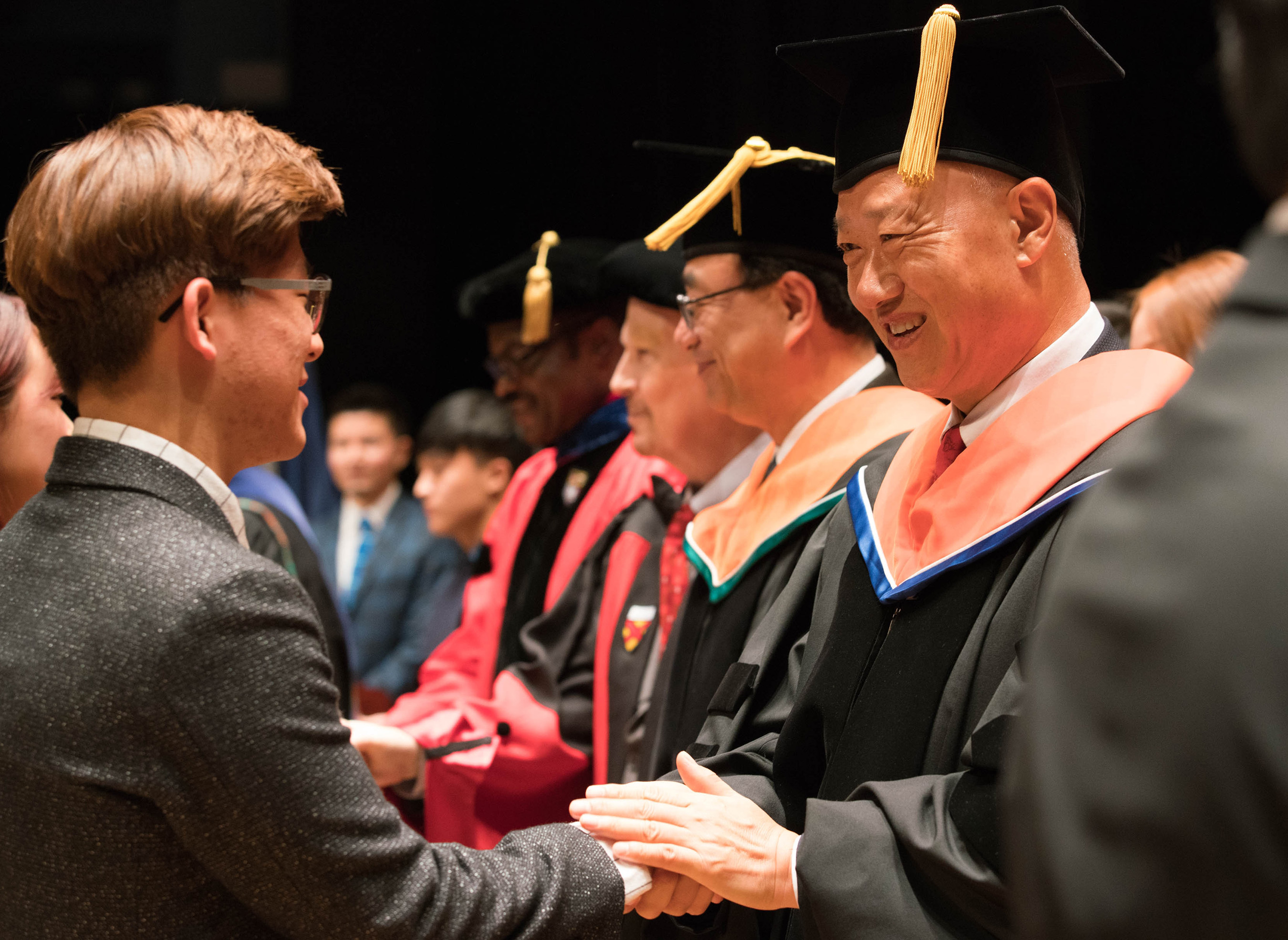 Commencement ceremony of SUNY Korea in January, 2017
