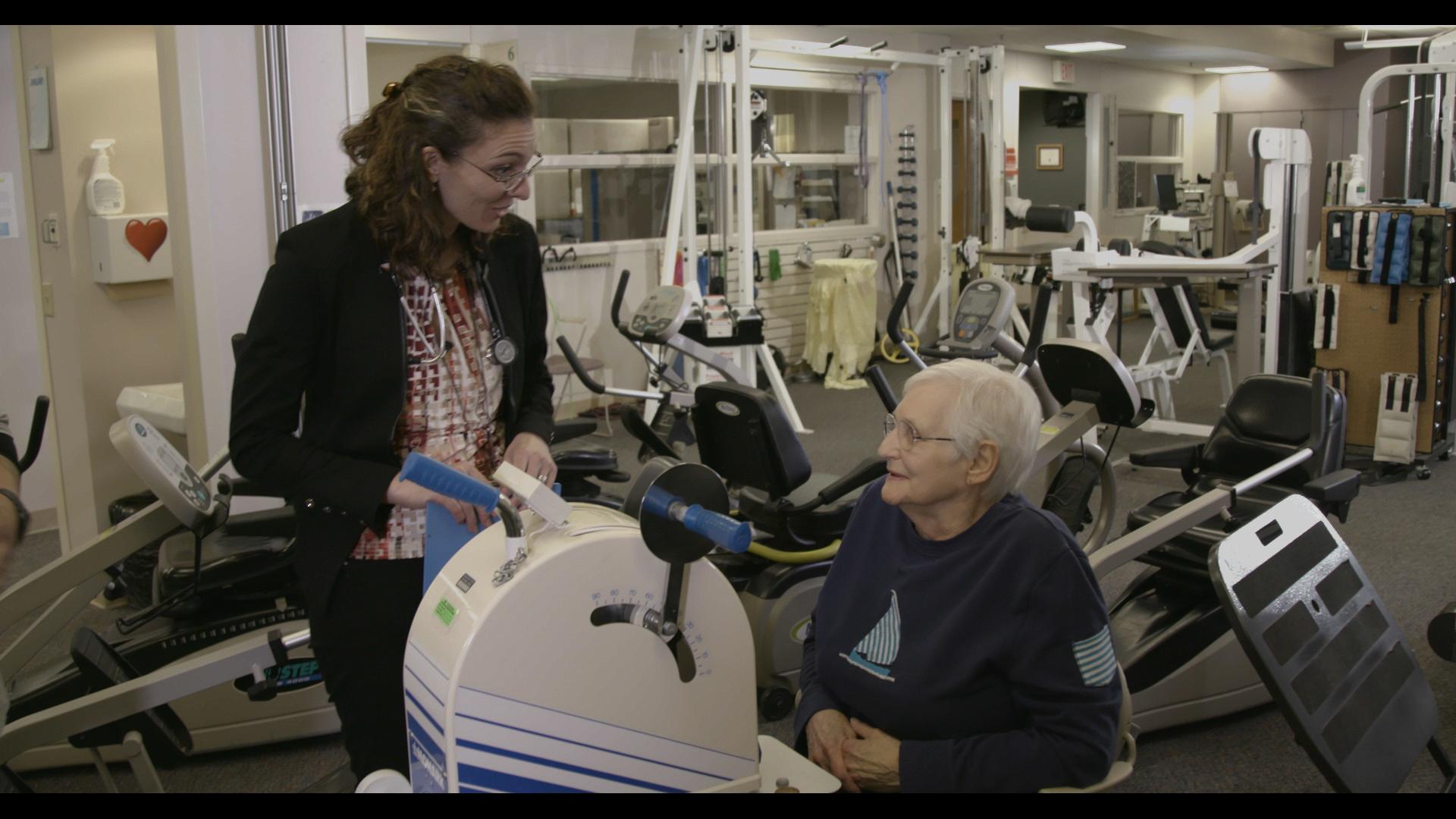 Mary and her pulmonologist, Dr. Breion Tafoya