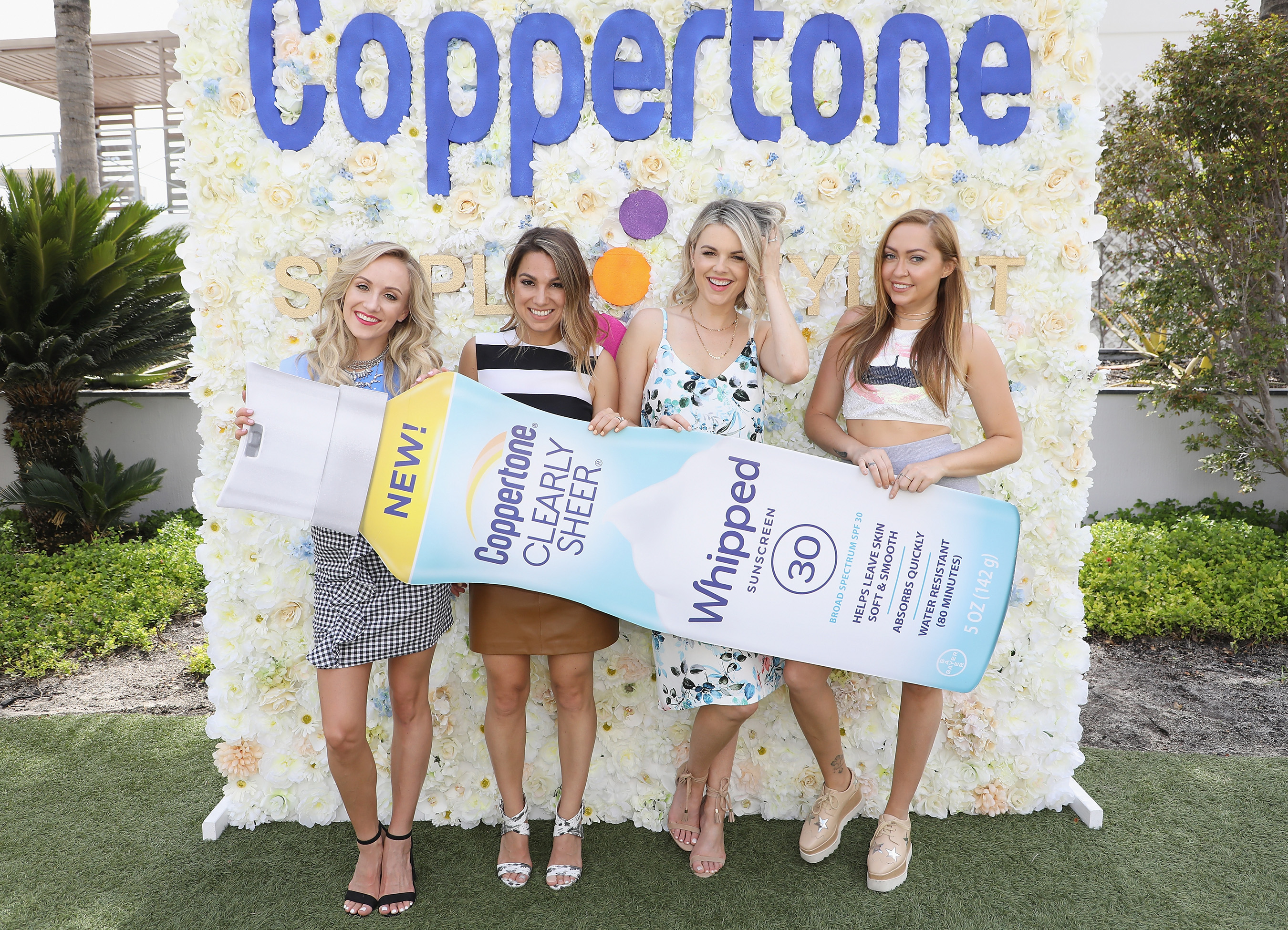 Ali Fedotowsky-Manno, Nastia Liukin and Brandi Cyrus get excited about the Coppertone® and Simply Stylist event dedicated to the importance of sun protection and the new Whipped line!