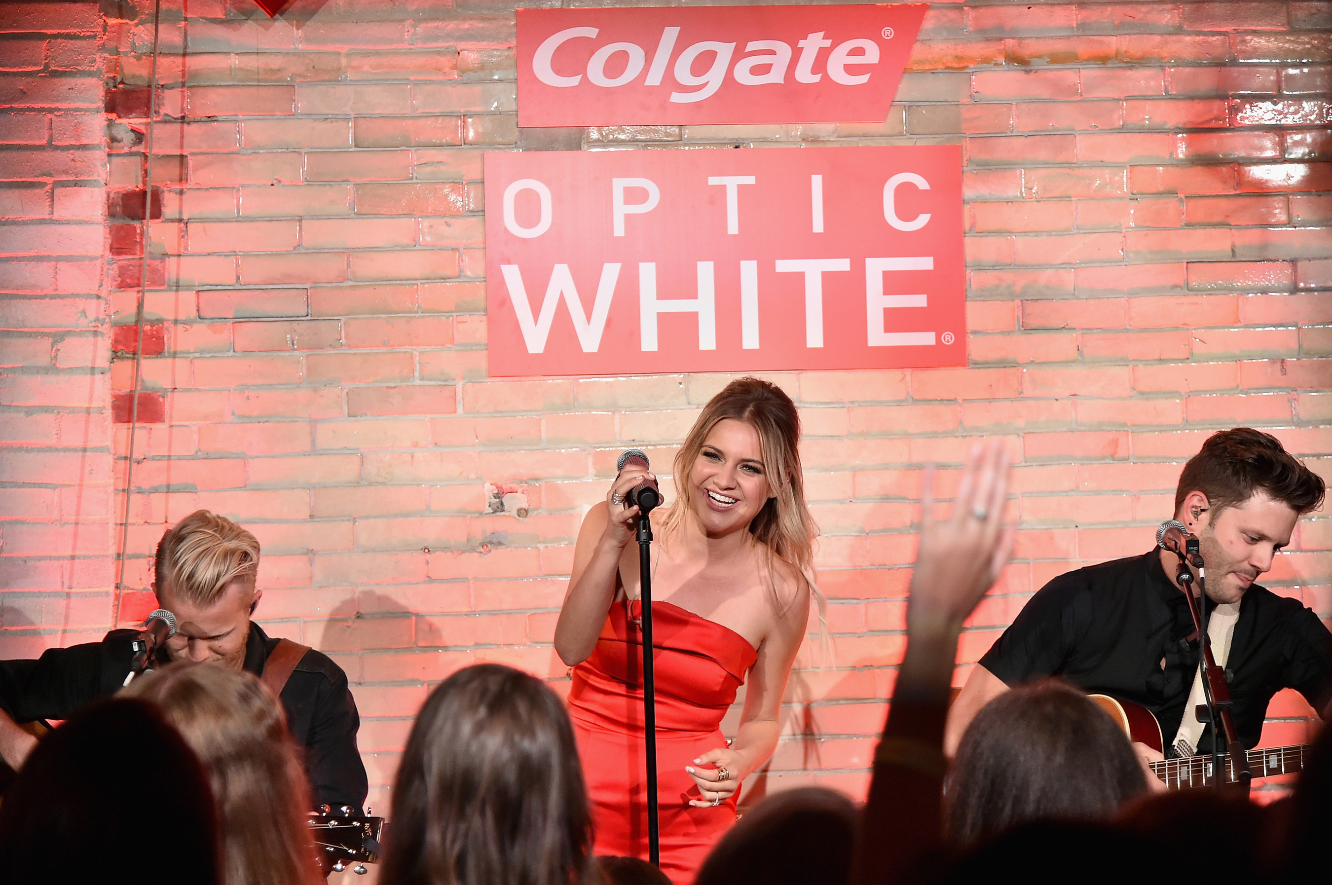 Kelsea Ballerini performs a private concert for fans, sponsored by Colgate Optic White