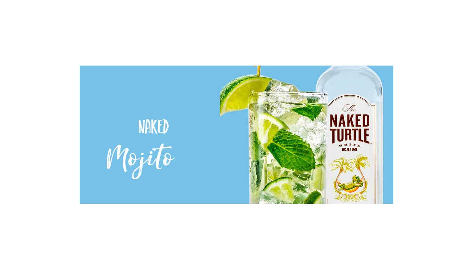 With the finest ingredients, we put the Oh in Mo-ji-toh. Photo Credit: The Naked Turtle White Rum