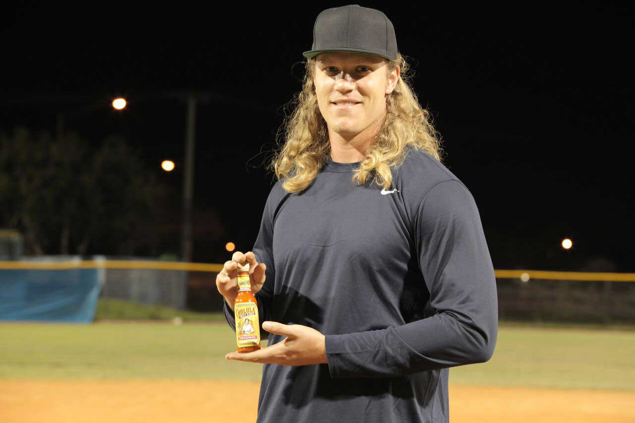 Superfan and All-Star pitcher, Noah Syndergaard professes his love for Cholula Hot Sauce by being the first person to join the Order of Cholula at OrderOfCholula.com.