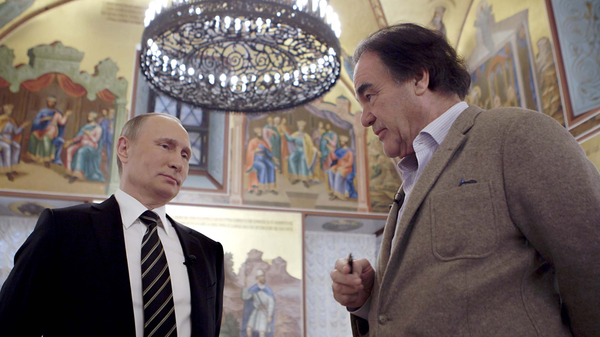 Academy Award winner Stone with Putin