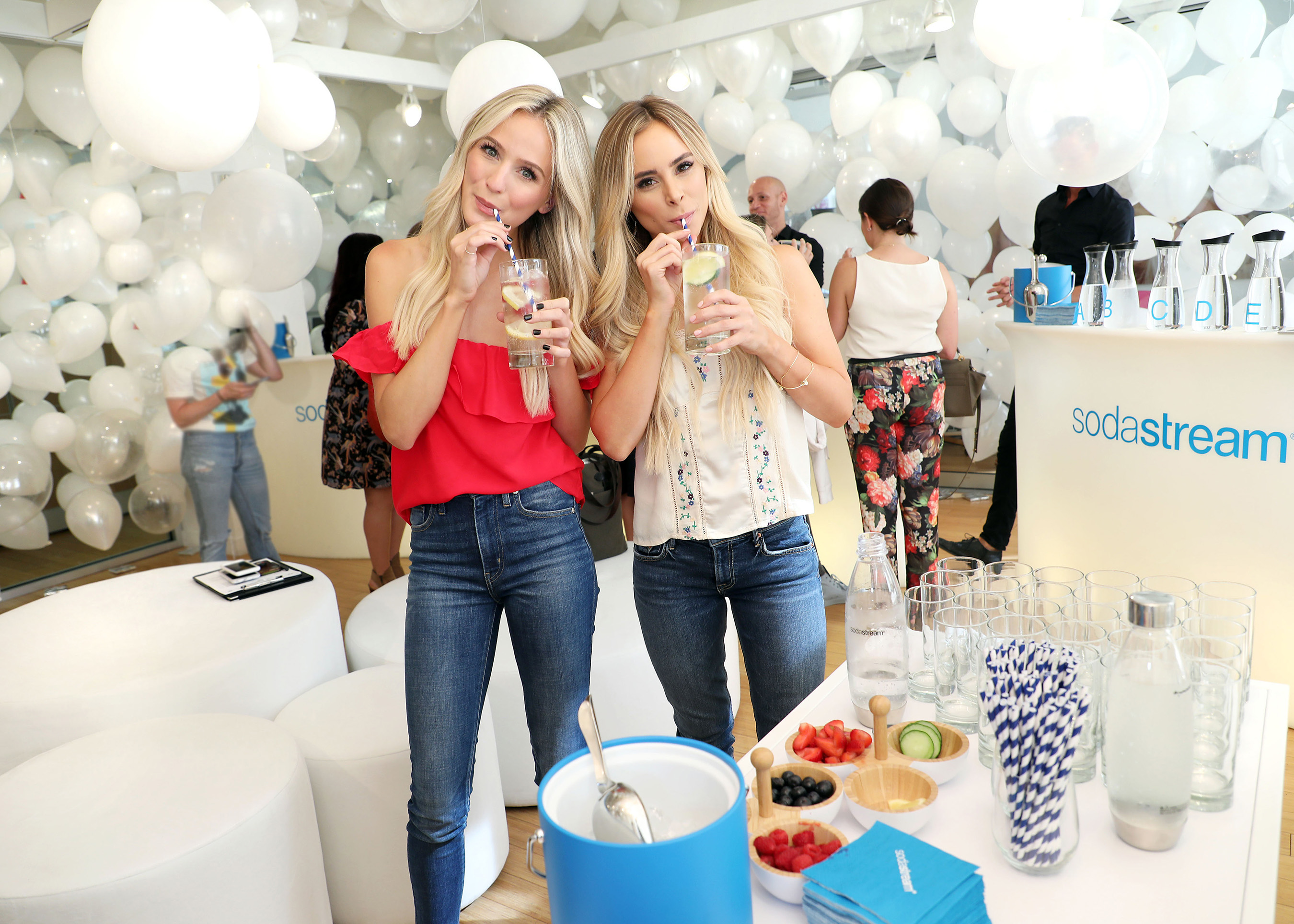 Lauren Bushnell and Amanda Stanton sip SodaStream