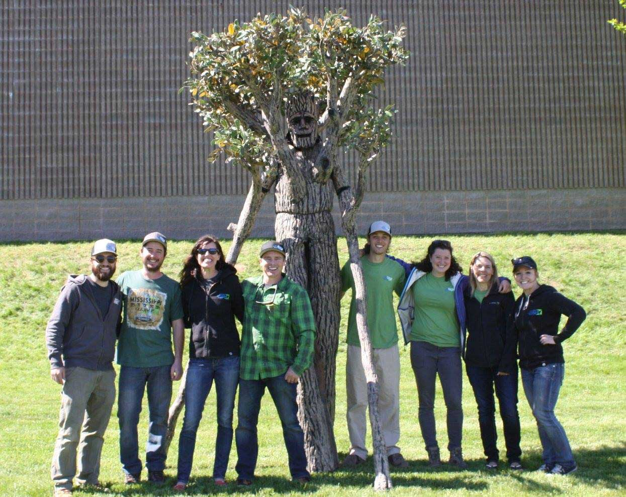 President and Founder of Living Lands & Waters, Chad Pregracke, and his team celebrate the organization planting its 1 Millionth tree - a project that the Dreaming Tree is a proud supporter of.