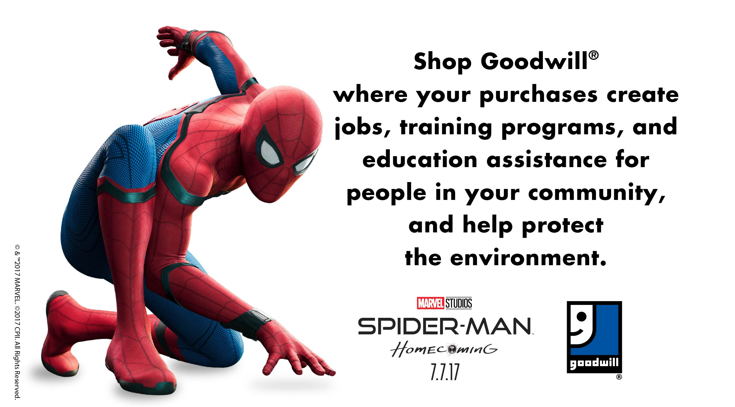 Goodwill® And Sony Pictures Announce Winner Of DIY Spider-Man Suit Contest And Champion Social/Environmental Cause