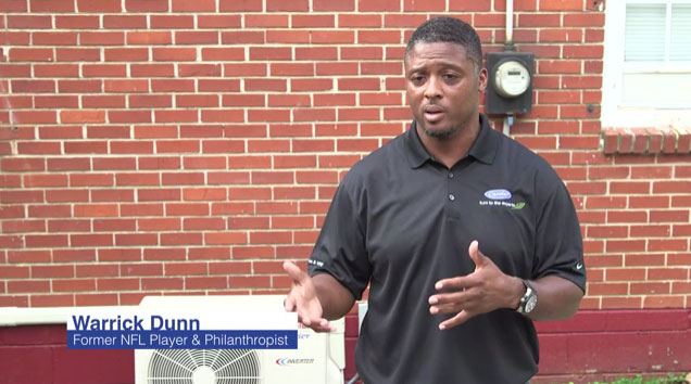 Carrier and Habitat for Humanity celebrate the donation of more than 500 home comfort systems to Habitat families across the United States with philanthropist and former NFL Pro Bowler Warrick Dunn. The Carrier ductless systems have been distributed to scores of homeowners for use in new construction and home upgrade projects. Dunn is a longtime Habitat supporter.