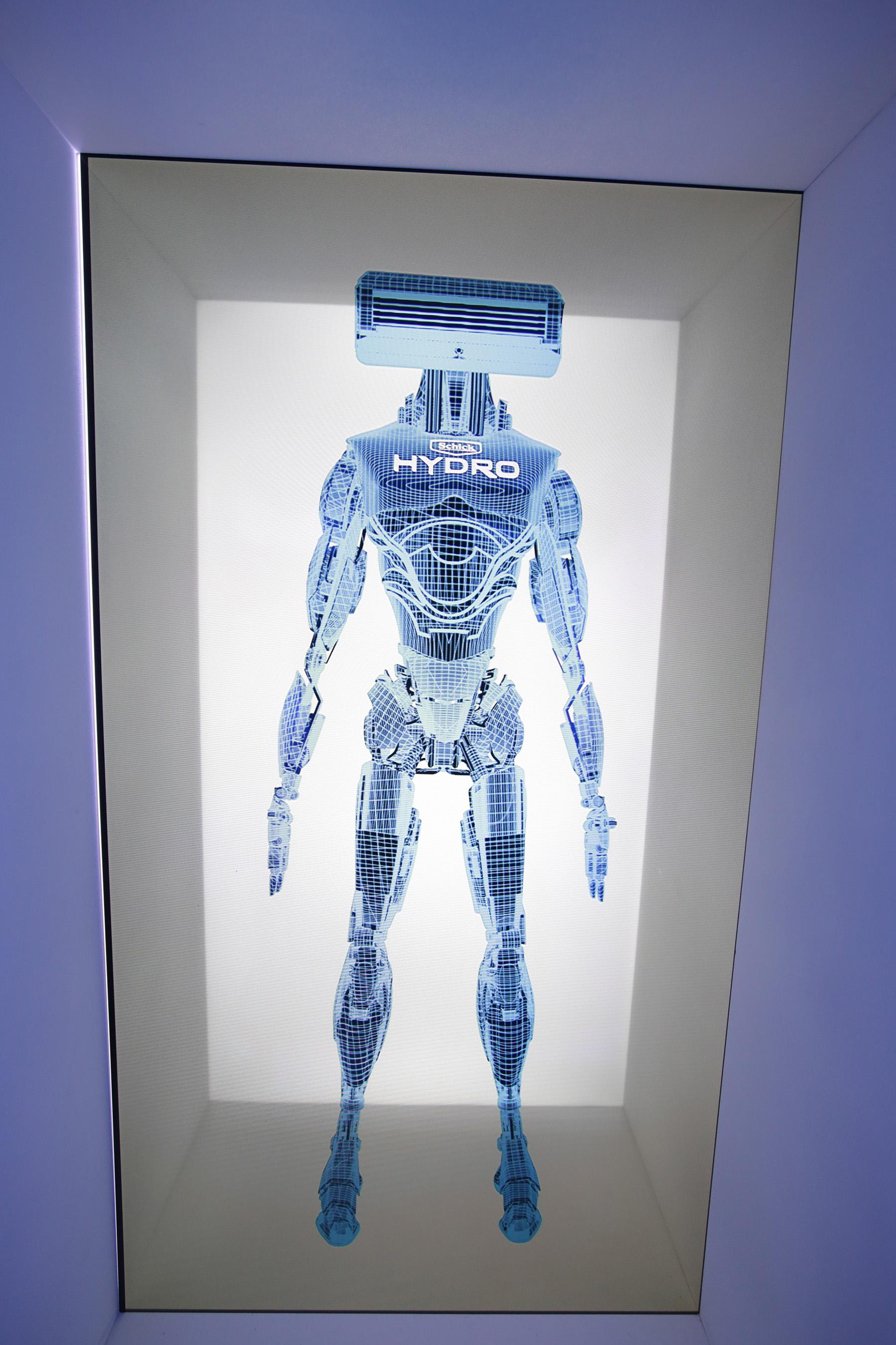 """Schick Hydro Escape"" Hydrobot Hologram"