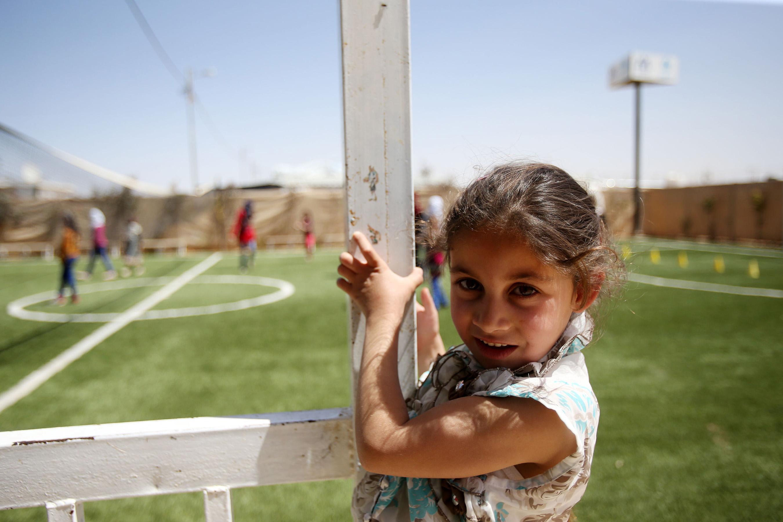 Children participate in recreational activities in UNCIEF Child Friendly Spaces | Credit: ©SalahMalkawi