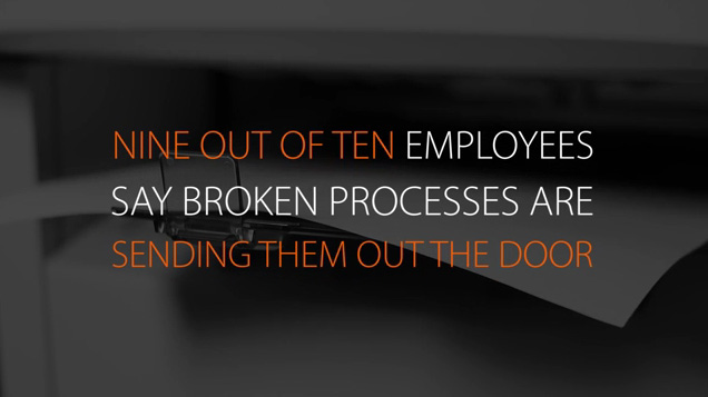 Document management processes affect nearly every department in an organization, yet nearly 40% of employees surveyed in a new Nintex study report that document management processes are broken.