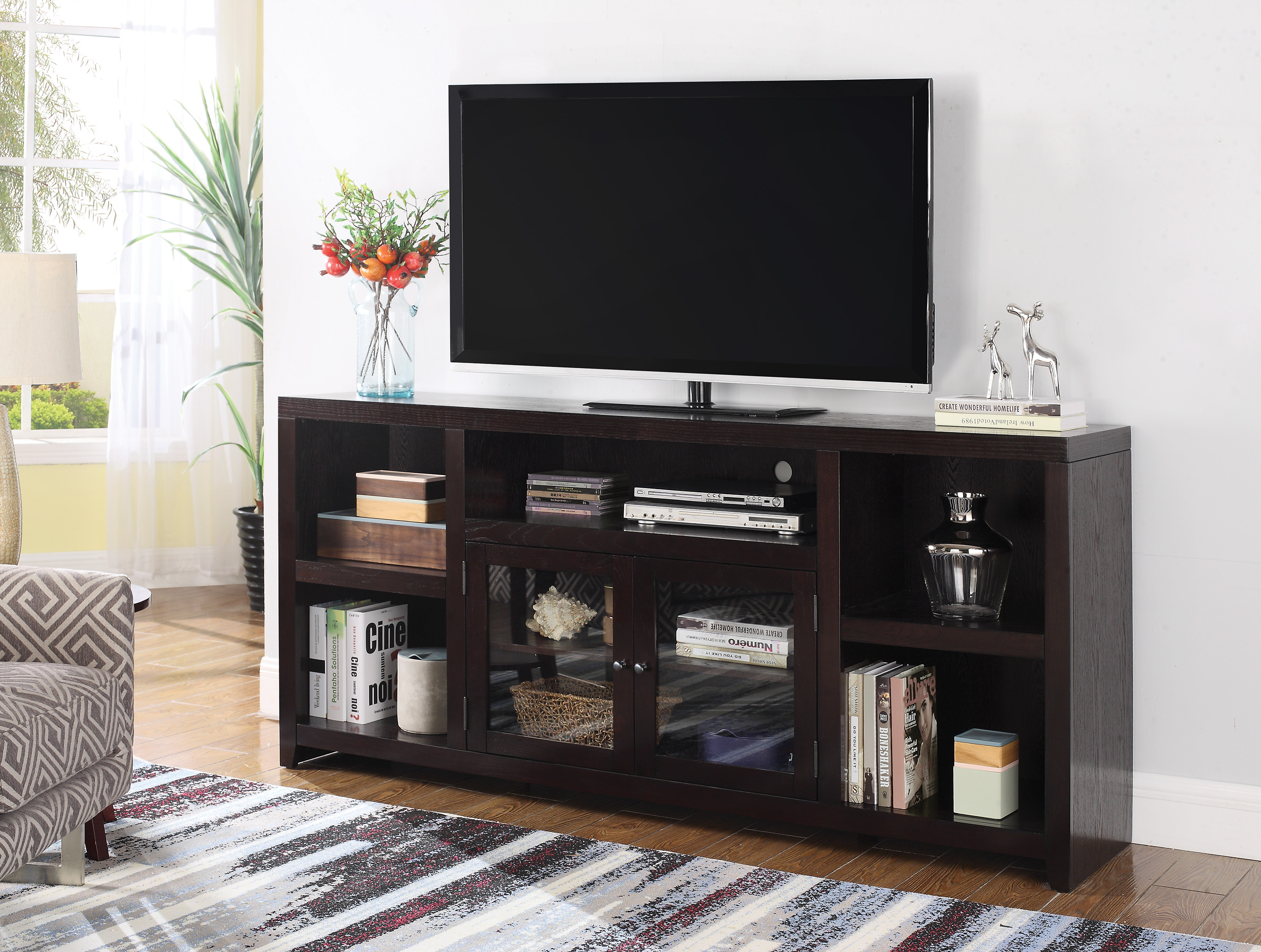 TV Stand Scott Living Breckinridge Dark Cappuccino Cabinet