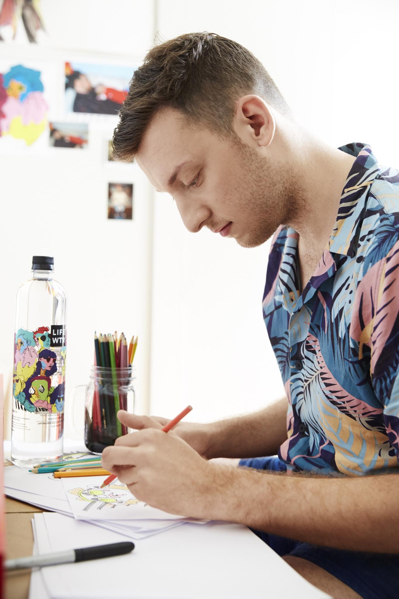 LIFEWTR Series 3 Artist Adam Dalton Blake