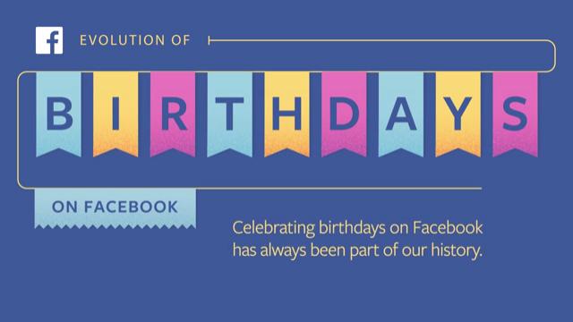 Facebook Evolution of Birthdays Video