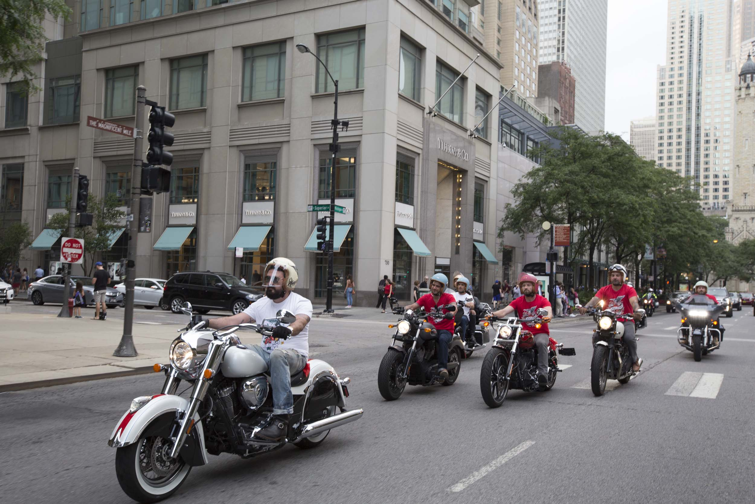Kiehl's LifeRide for amfAR arrives in Chicago.