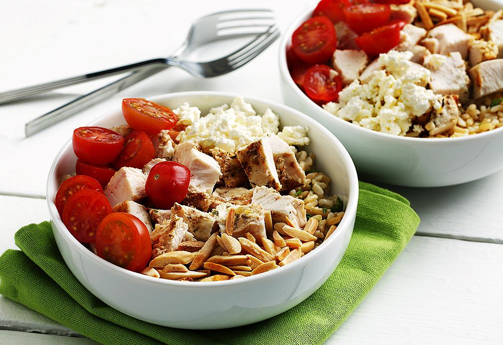 Chicken and Feta Grain Bowls