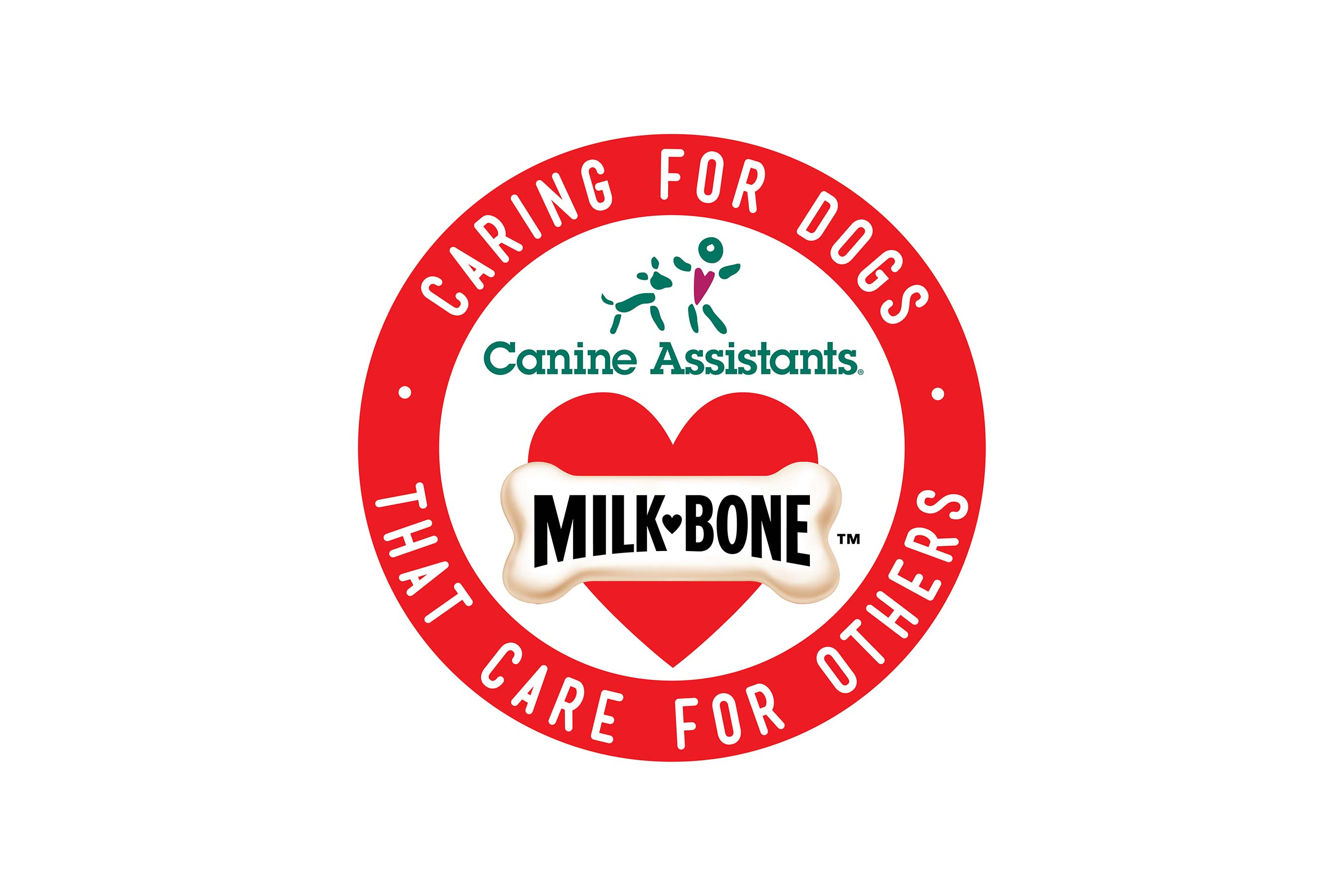 Canine Assistants and Milk-Bone Combined Logo