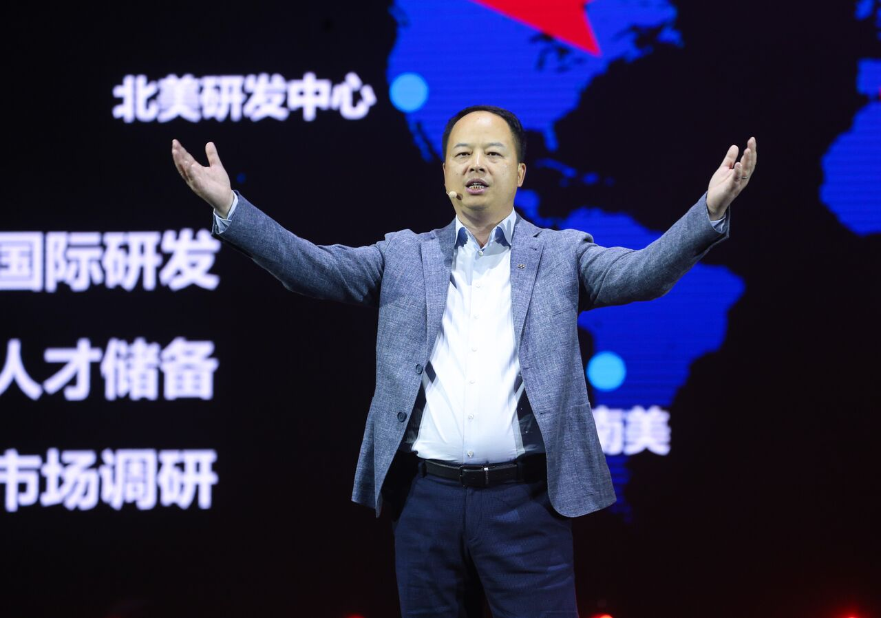 Yu Jun, president of GAC Motor at GS3/GS7 release event