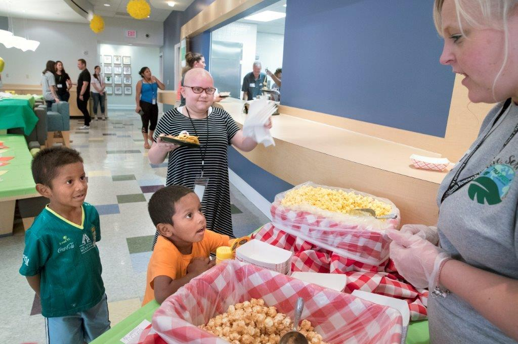 Patients and their families enjoyed kid-friendly food handed out by TruGreen associates at the company's give-back event at St. Jude Children's Research Hospital®.