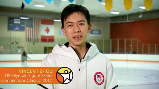 Vincent Zhou, US Olympic figure skater and California Connections Academy alum, sends a congratulatory message to the entire Connections Academy graduating Class of 2018.
