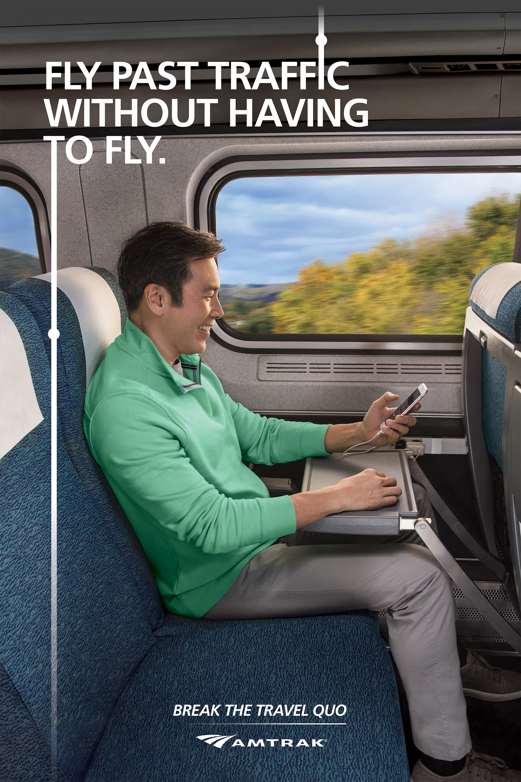 When traveling with Amtrak, you can fly past traffic without actually having to fly.