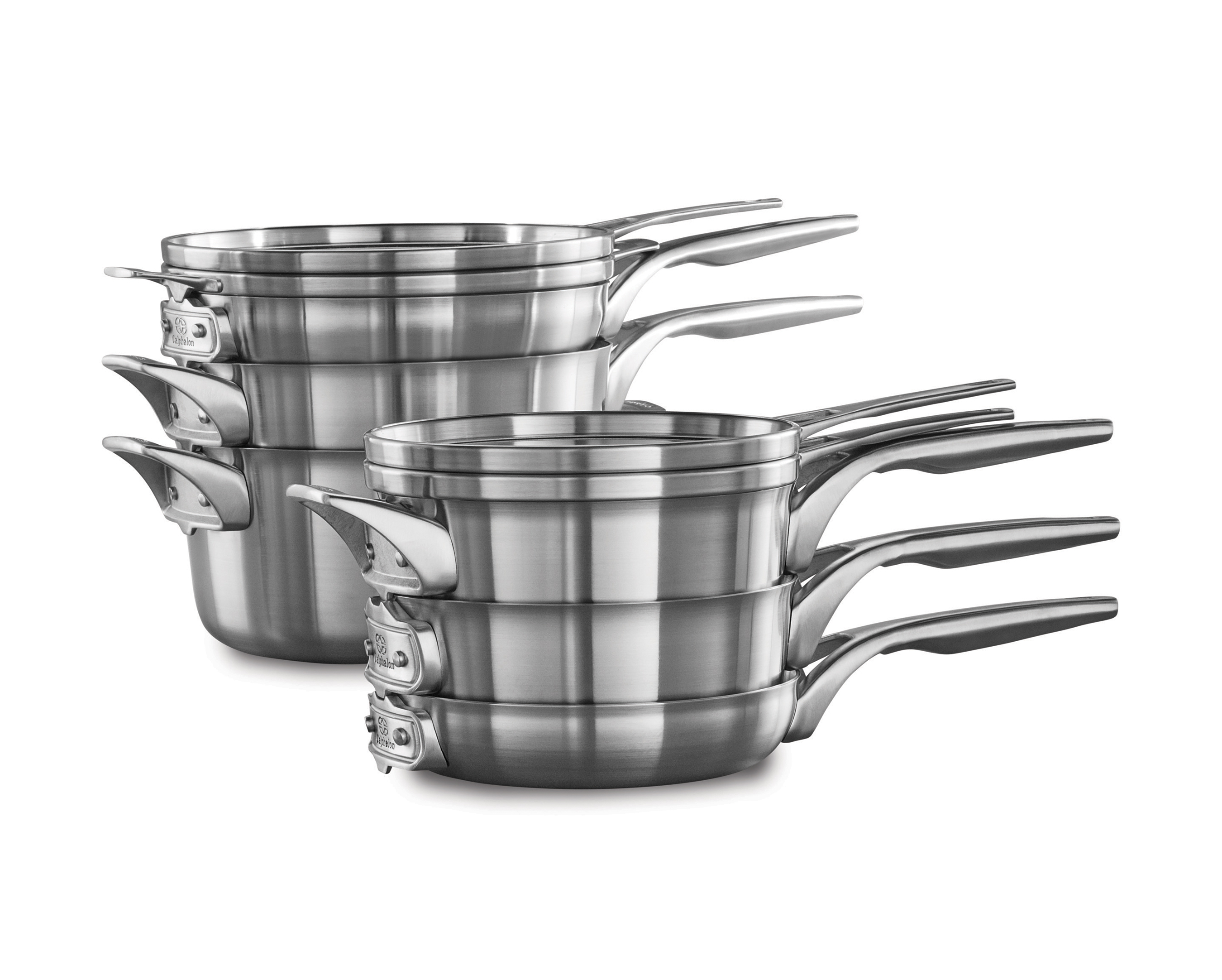 Calphalon Premier Space Saving Cookware in Stainless Steel