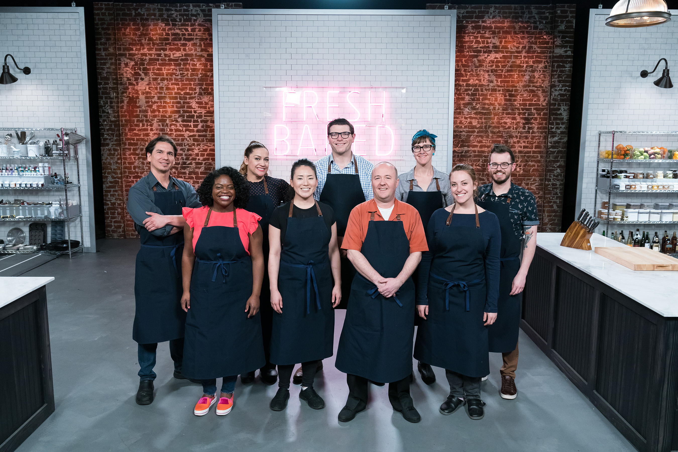 The contestants of Food Network's Best Baker in America