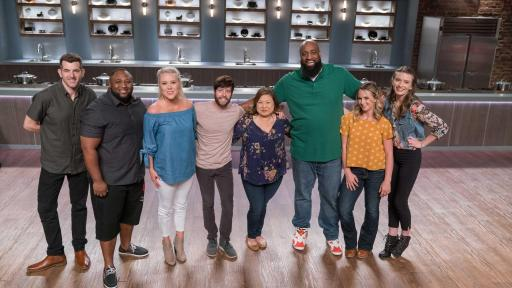 The finalists of Food Network Star: Comeback Kitchen