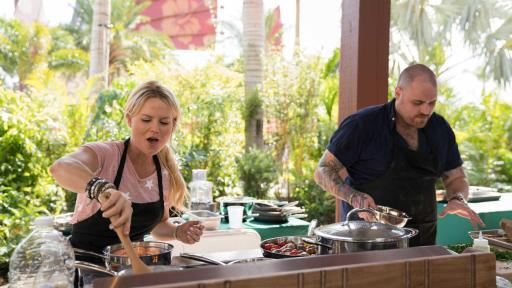 Katie Dixon and Christian Petroni on Food Network Star