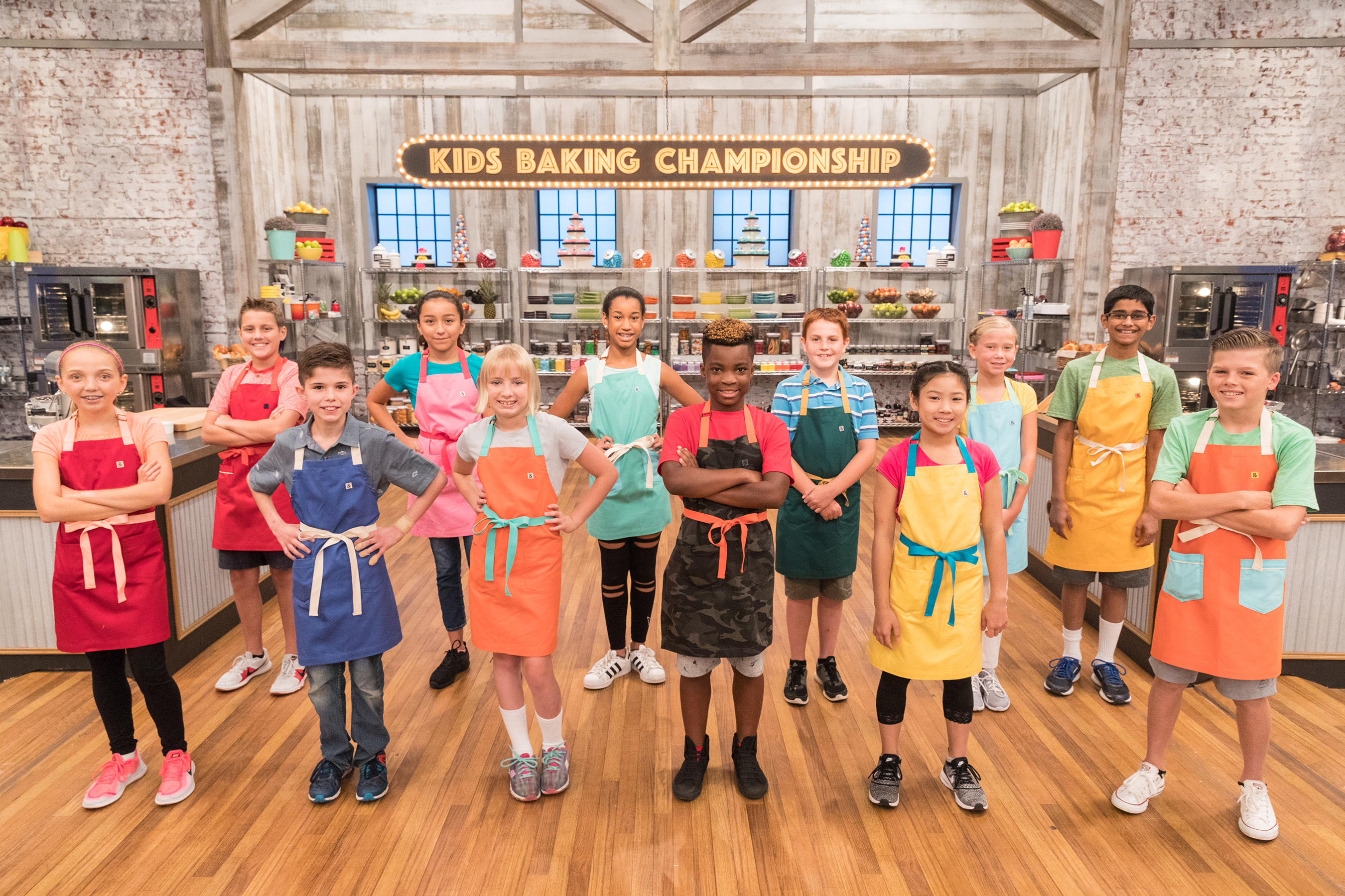 The contestants of Food Network's Kids Baking Championship