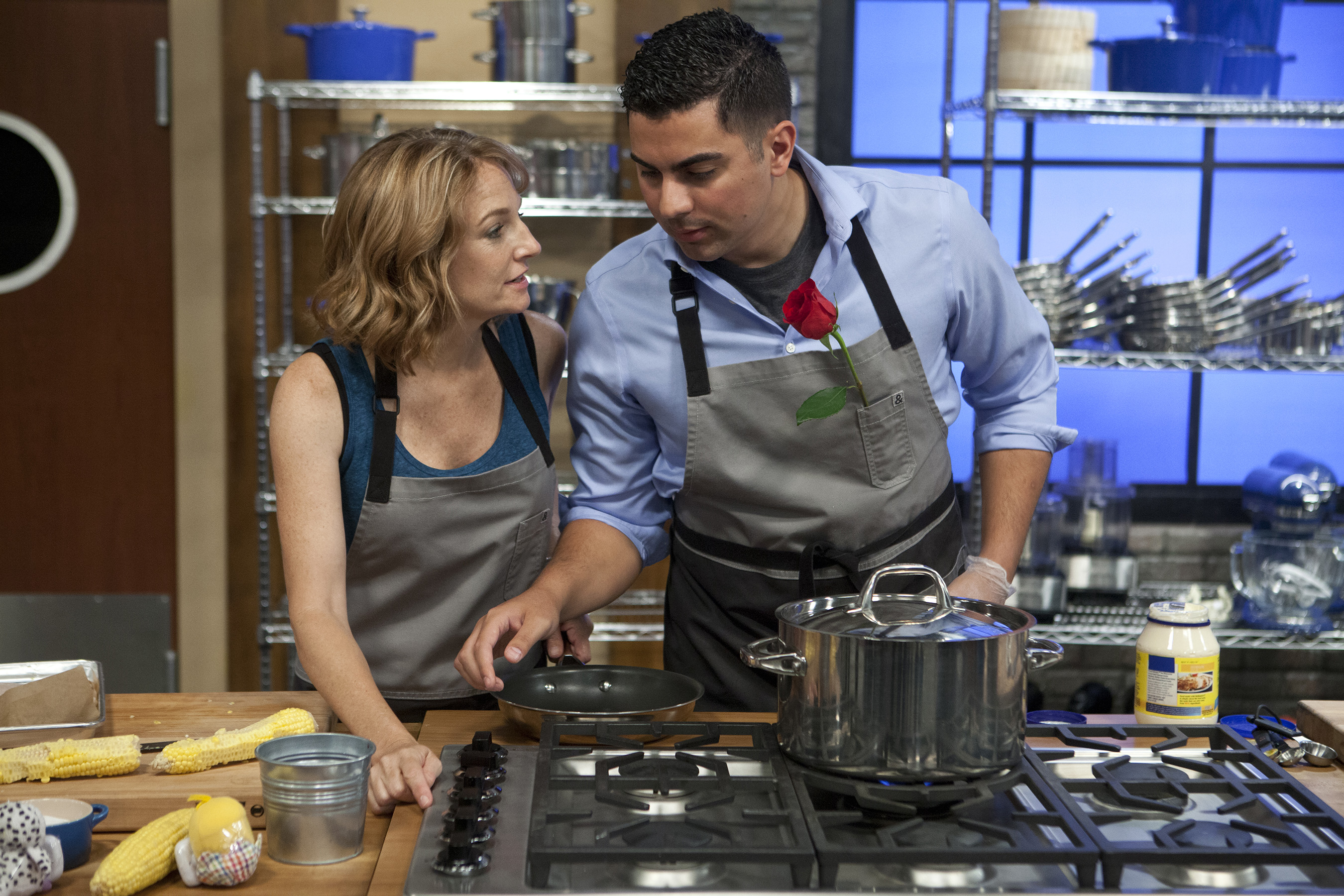 Recruits Sylvia Jeffries and Brandon Arroyo on Food Network's Worst Cooks in America