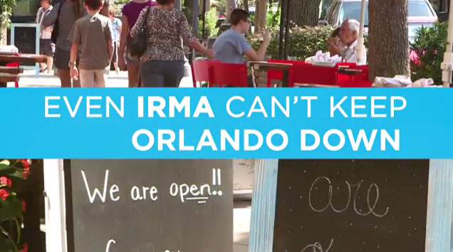 Even Hurricane Irma can't keep Orlando down! Check out how Orlando is welcoming visitors only days later.