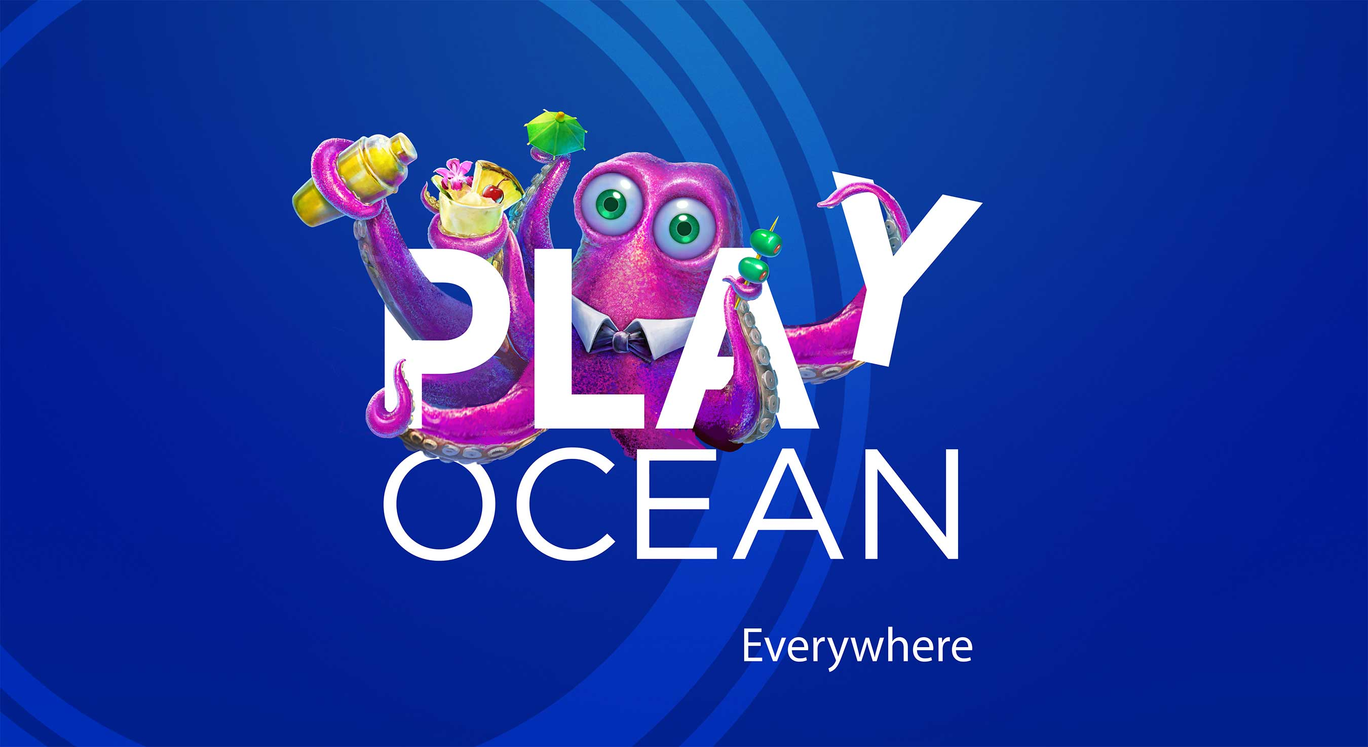 PlayOcean Everywhere logo with Tipsy