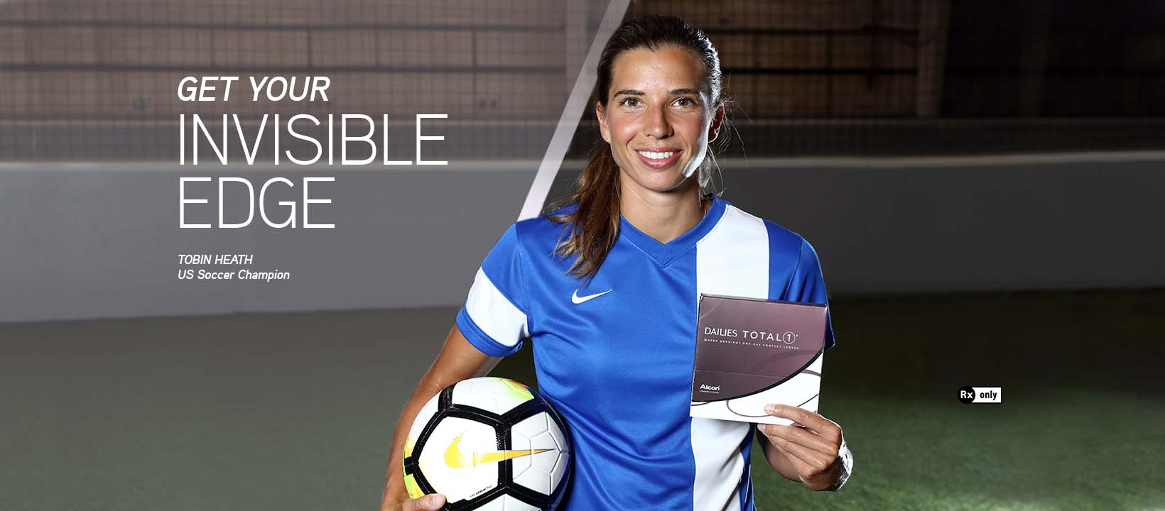 Alcon DAILIES® teams up with US Olympians - world-class gymnast Laurie Hernandez and soccer star Tobin Heath - to launch the Invisible Edge campaign