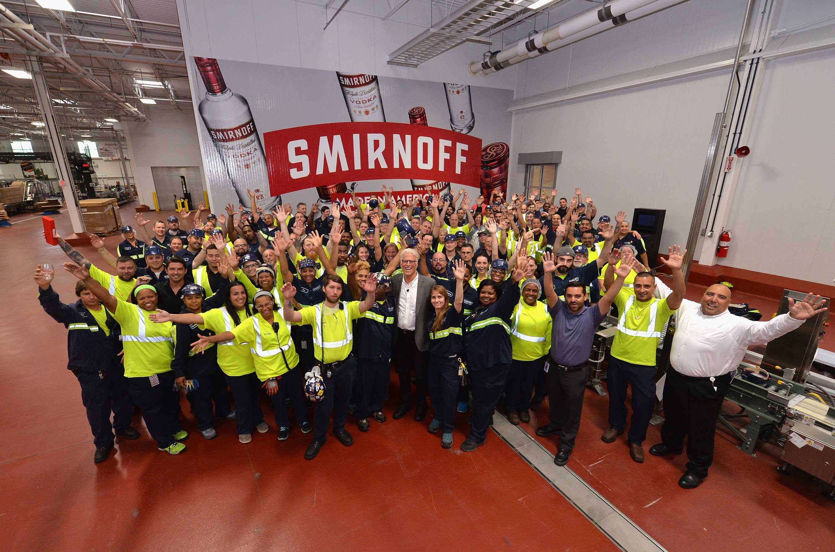 Ted Danson Heads To The Diageo Facility in Plainfield, Illinois To Meet the Hard-working People Behind SMIRNOFF, Americas Most-Awarded Vodka, on October 4, 2017
