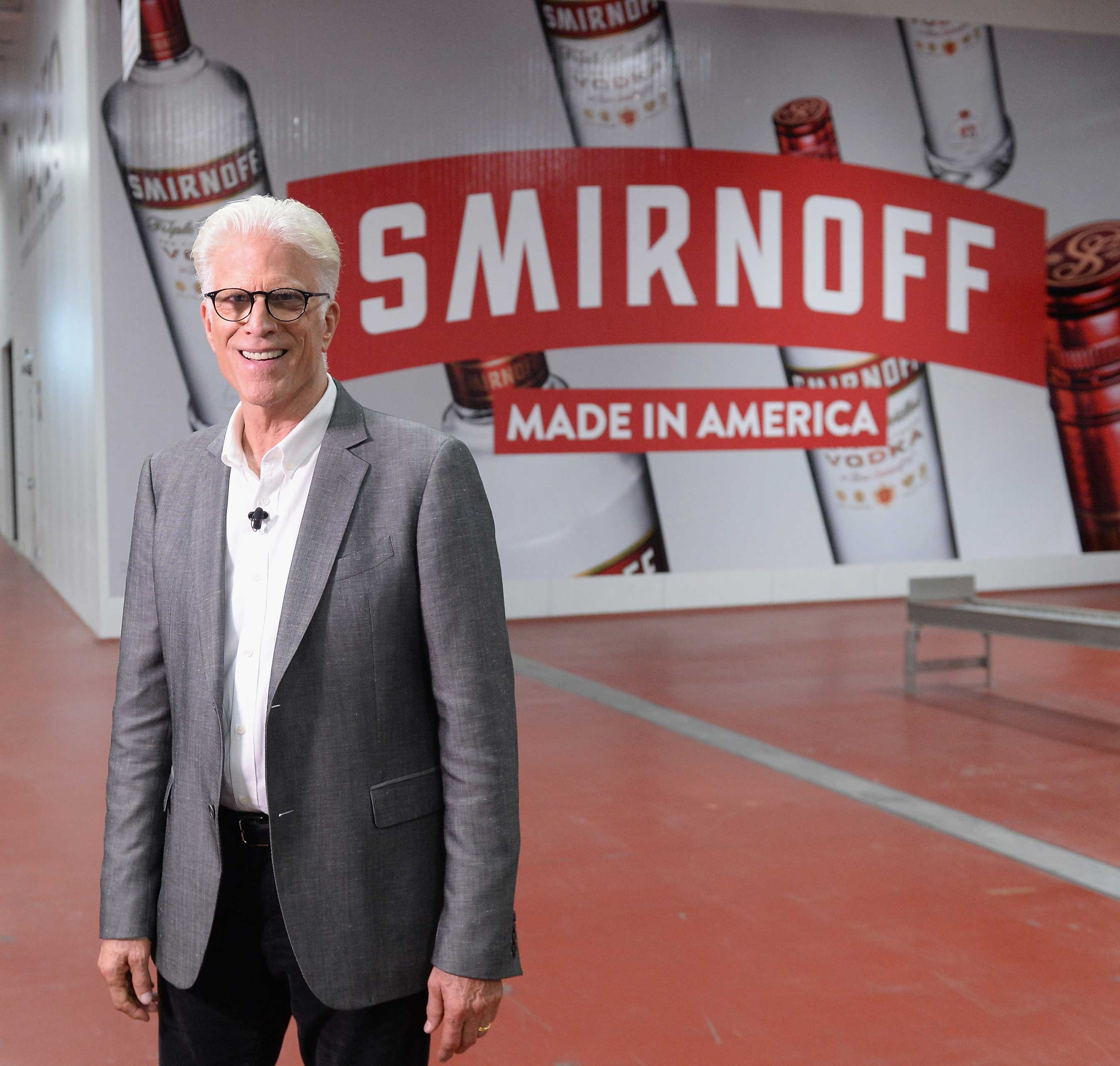 Ted Danson Heads To The Diageo Facility in Plainfield, Illinois To Meet the Hard-working People Behind SMIRNOFF, America's Most-awarded Vodka, on October 4, 2017