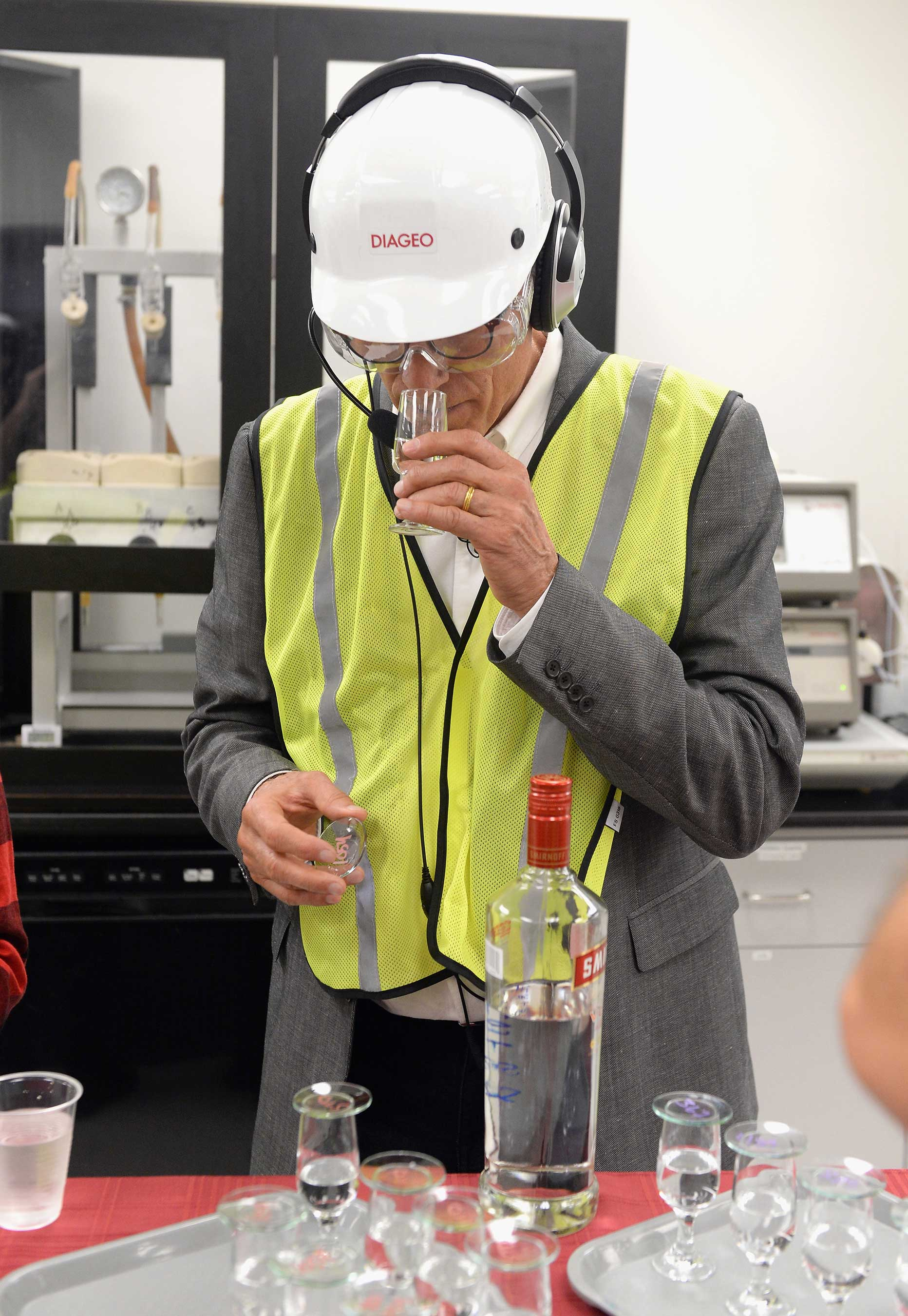 Actor and environmentalist, Ted Danson, Tours The Diageo Facility in Plainfield, Illinois to See How SMIRNOFF, America's No. 1 Vodka, Is Made First-hand on October 4, 2017