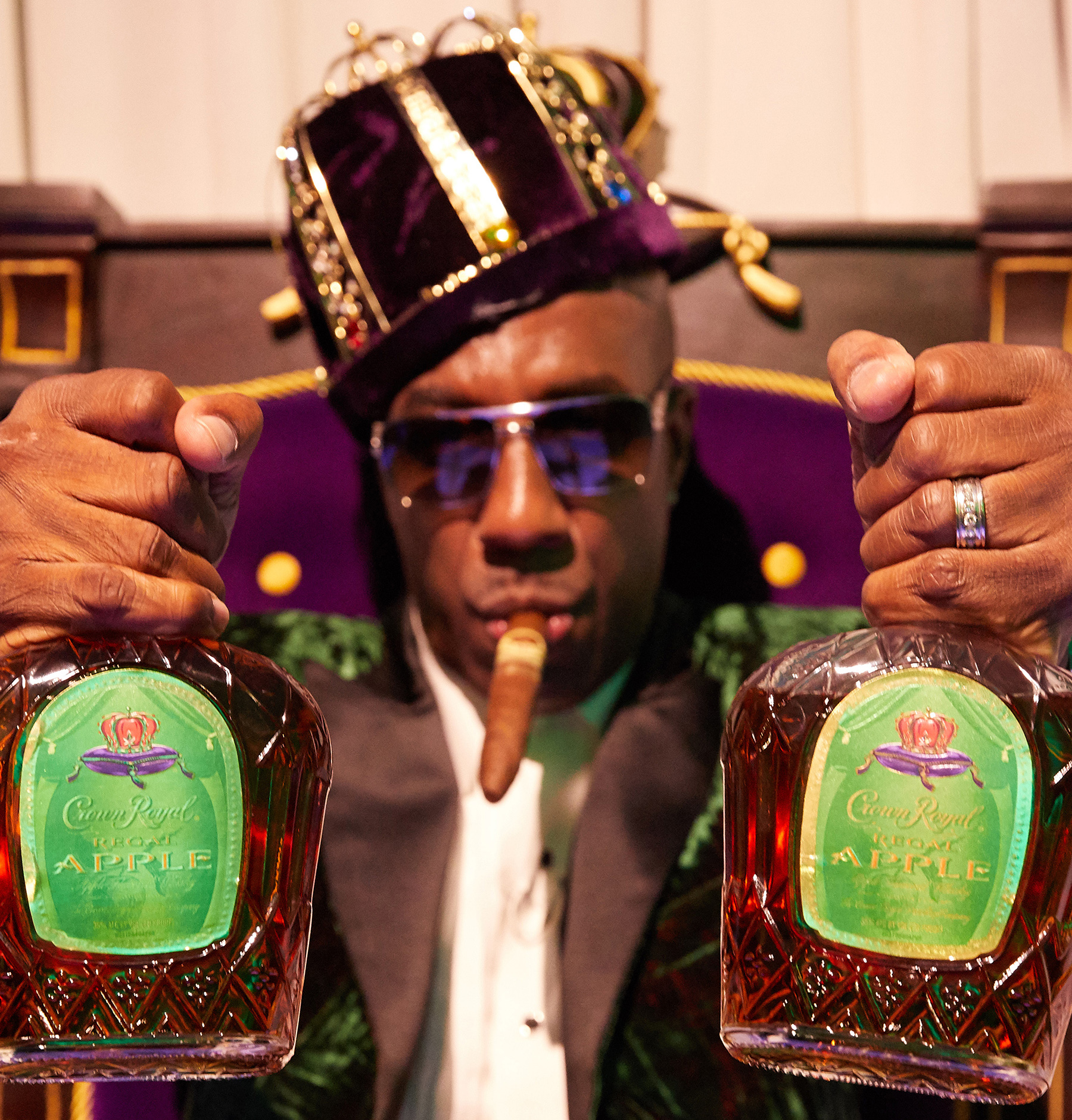 "Multitalented entertainer J.B. Smoove stars in the new spirited campaign titled ""Crown Royal Regal Apple: The Musical."""