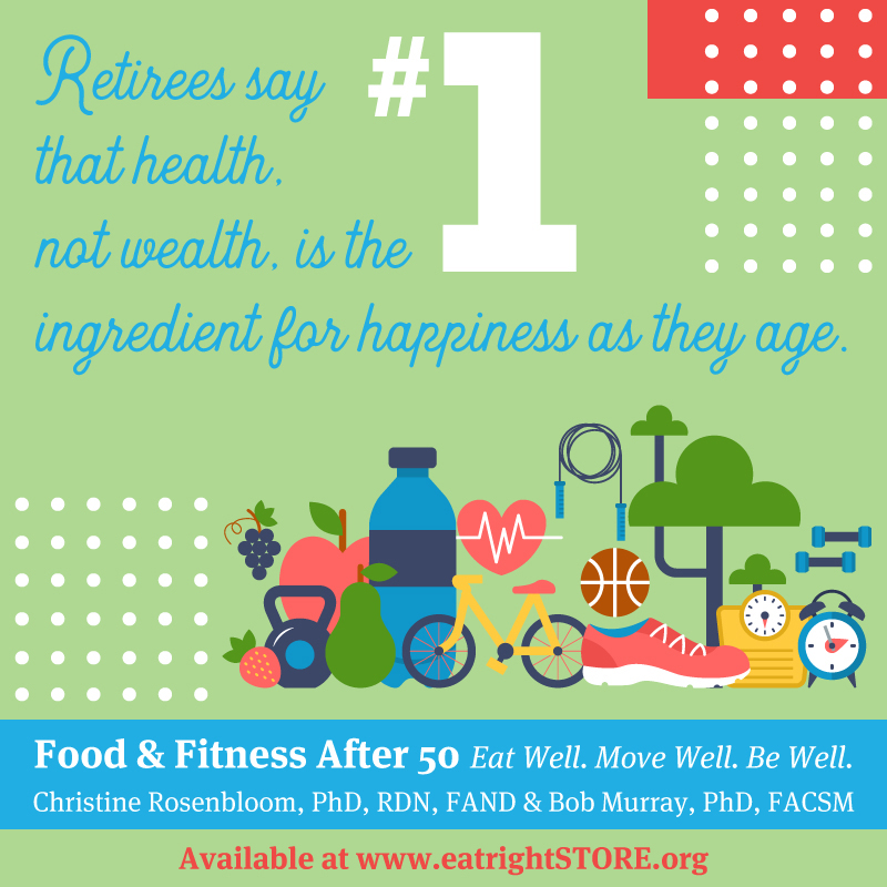 Food & Fitness After 50 Infographic