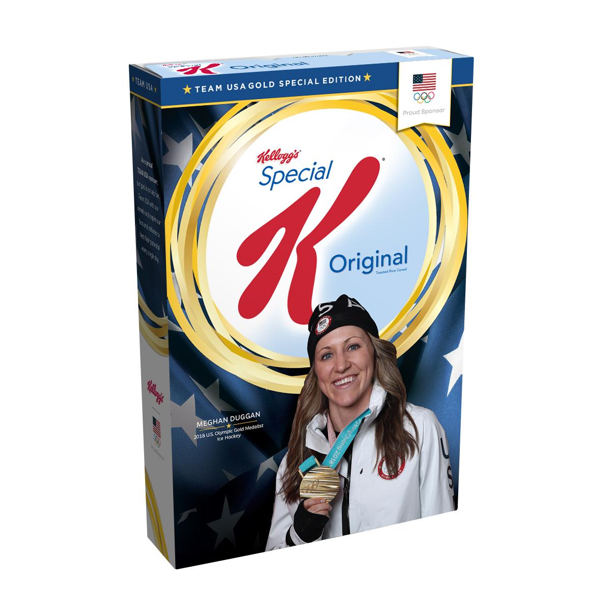 Meghan Duggan's Gold Medal Edition Kellogg's® Special K® Box