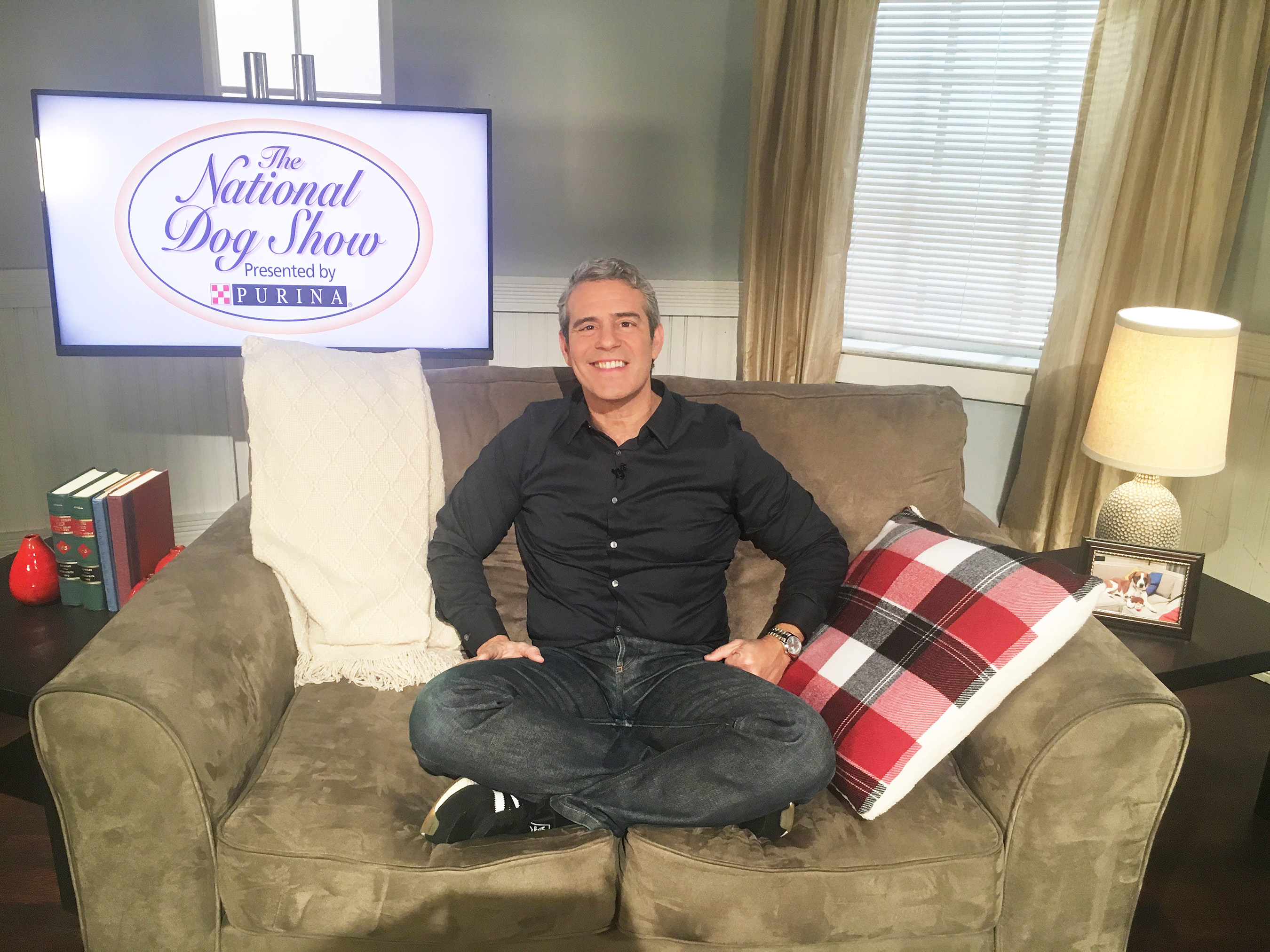Andy Cohen and his dog Wacha are partnering with Purina to kick off their #DogThanking movement to celebrate Thanksgiving and the National Dog Show Presented by Purina
