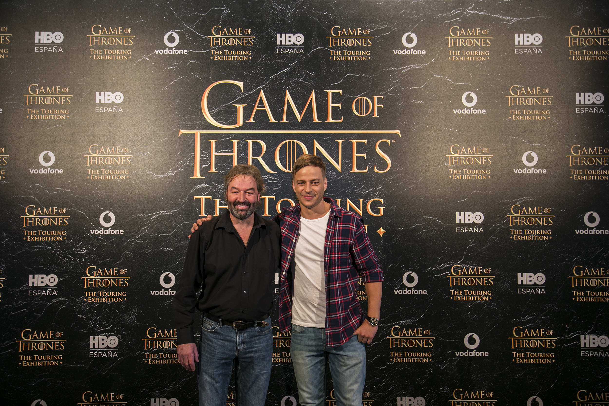 Ian Beattie and Tom Wlaschiha at GAME OF THRONES®: The Touring Exhibition