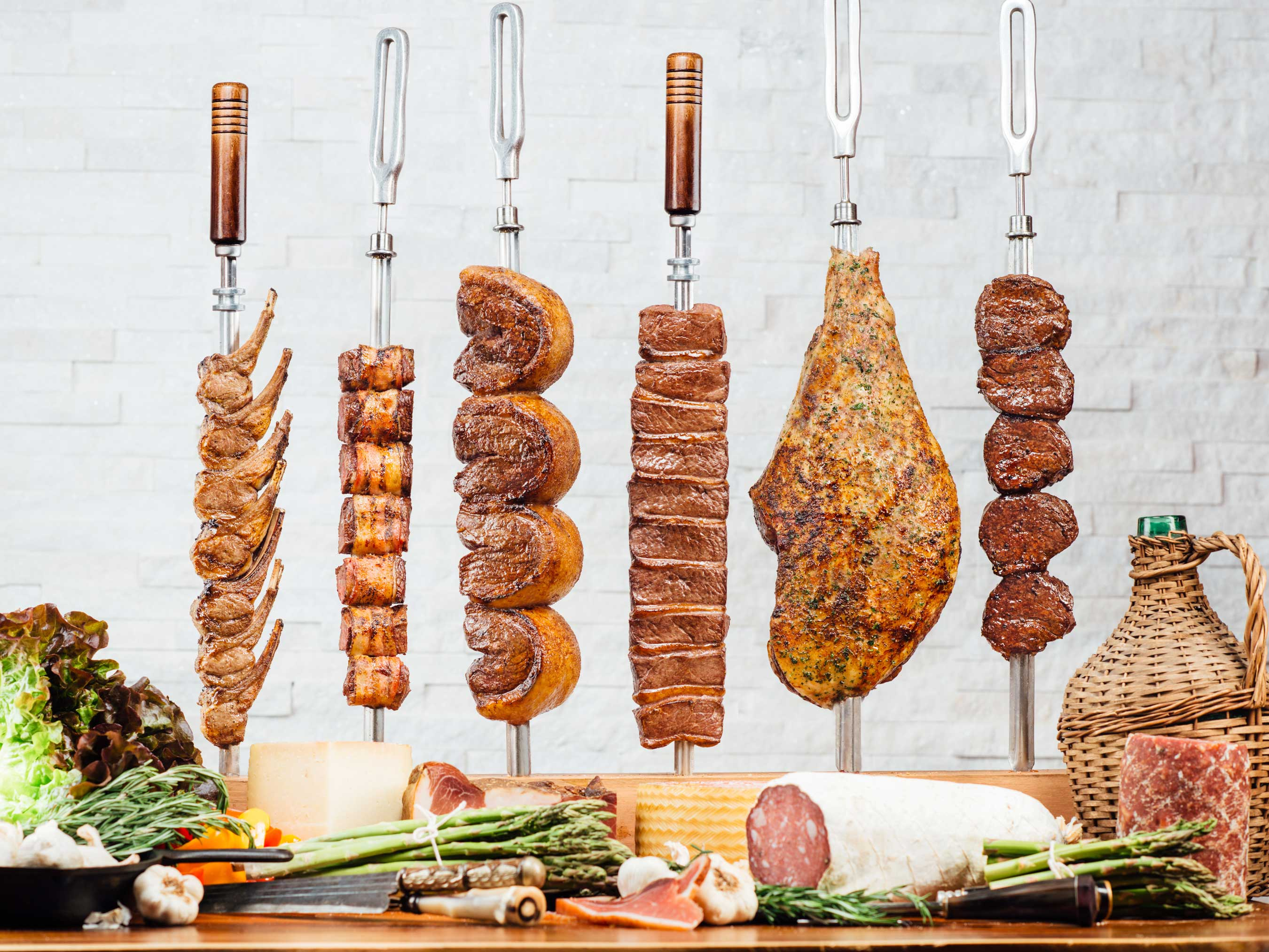 Texas de Brazil meats are all roasted over natural wood charcoal, a method passed down through generations of gauchos from Southern Brazil, then carved tableside during the rodizio-style dining experience.