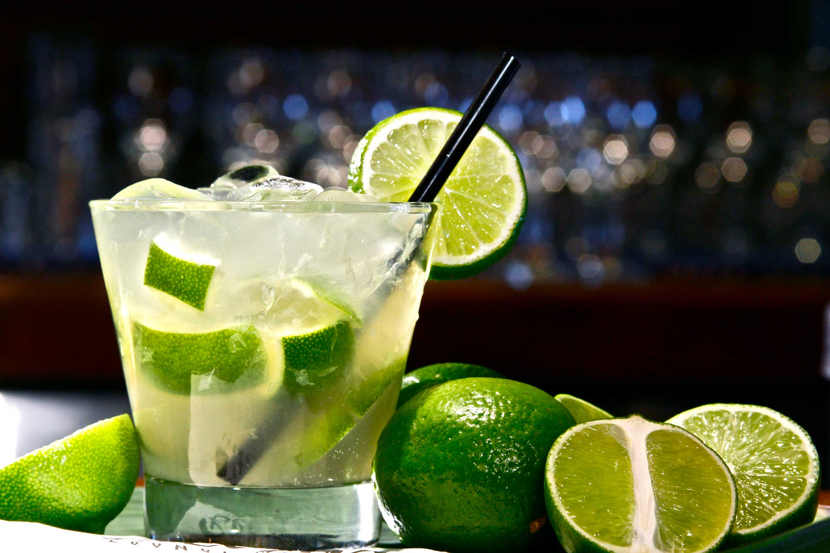The Brazilian Caipirinha is a favored cocktail at Texas de Brazil and available in traditional lime plus a variety of flavors.