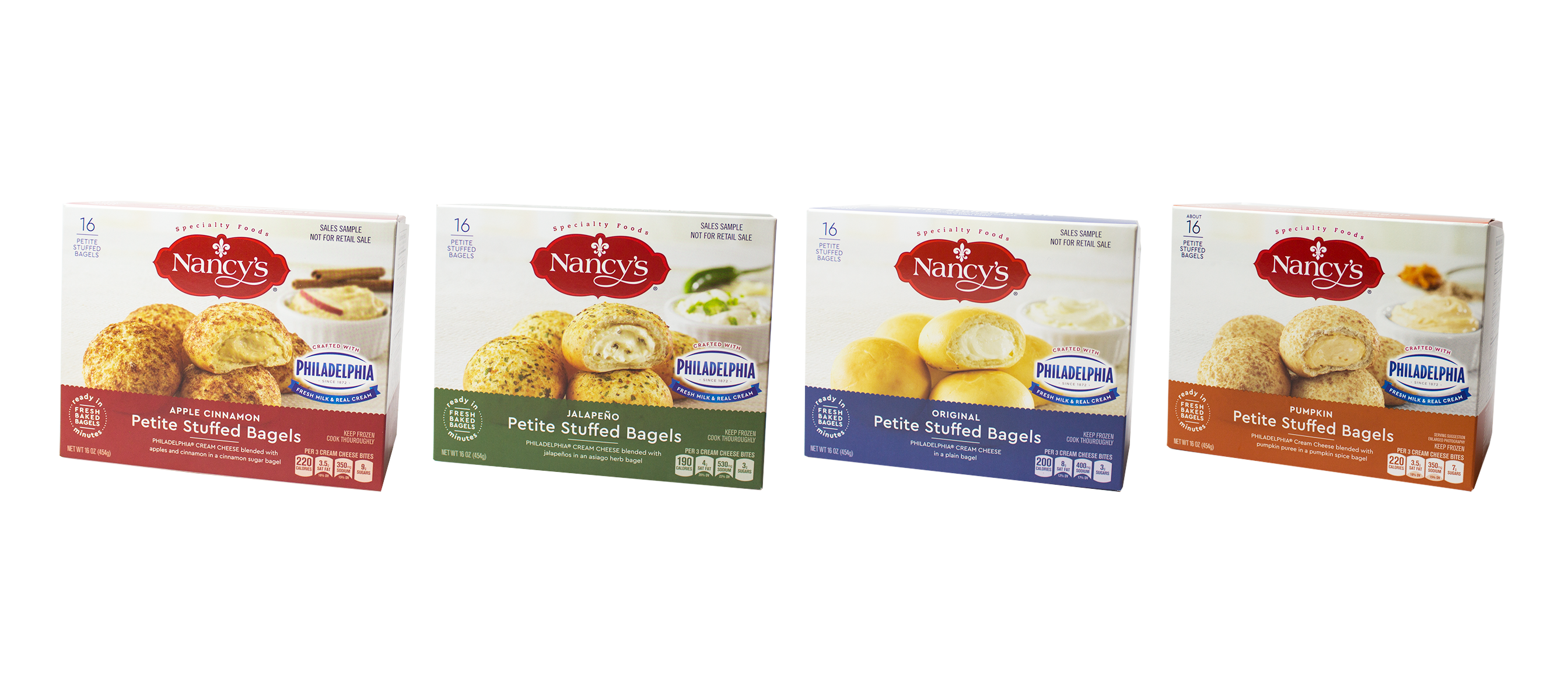 Now available on shelves nationwide, Nancy's Petite Stuffed Bagels are freshly baked bagels, made with fresh milk and real cream, ready to serve and enjoy in minutes, in four exceptional flavors, now bringing effortless elegance to homes everywhere