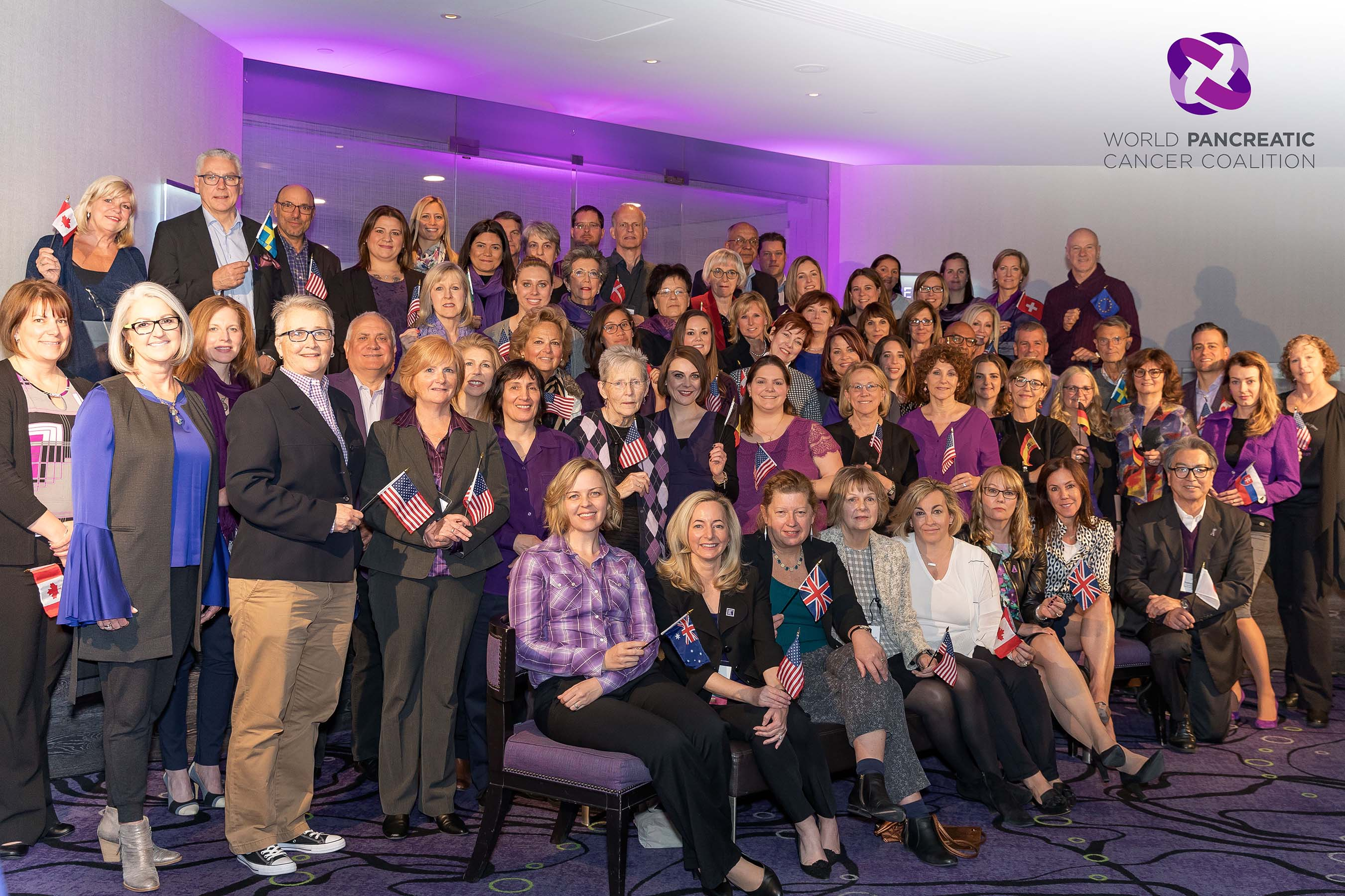 Members of the World Pancreatic Cancer Coalition unite from more than 60 organizations from 27 countries and six continents to raise awareness and inspire action on World Pancreatic Cancer Day