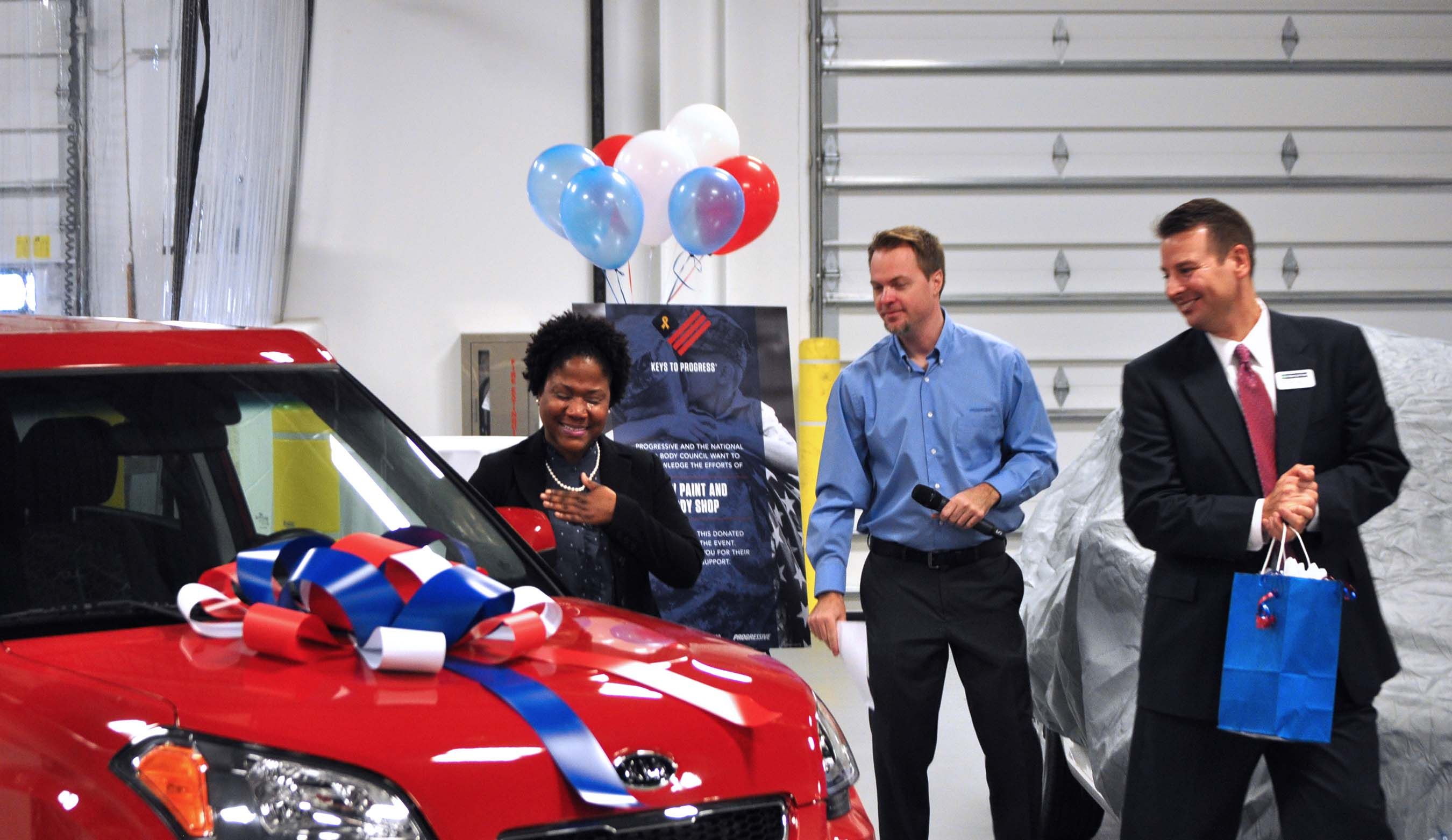 2016 Keys to Progress recipient presented with her vehicle