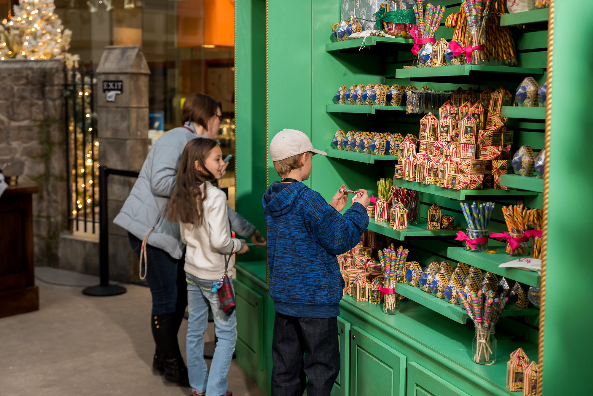 Visitors at Christmas in the Wizarding World will find authentic sweets from Honeydukes including Chocolate Frogs and Bertie Bott's Every Flavour Beans.