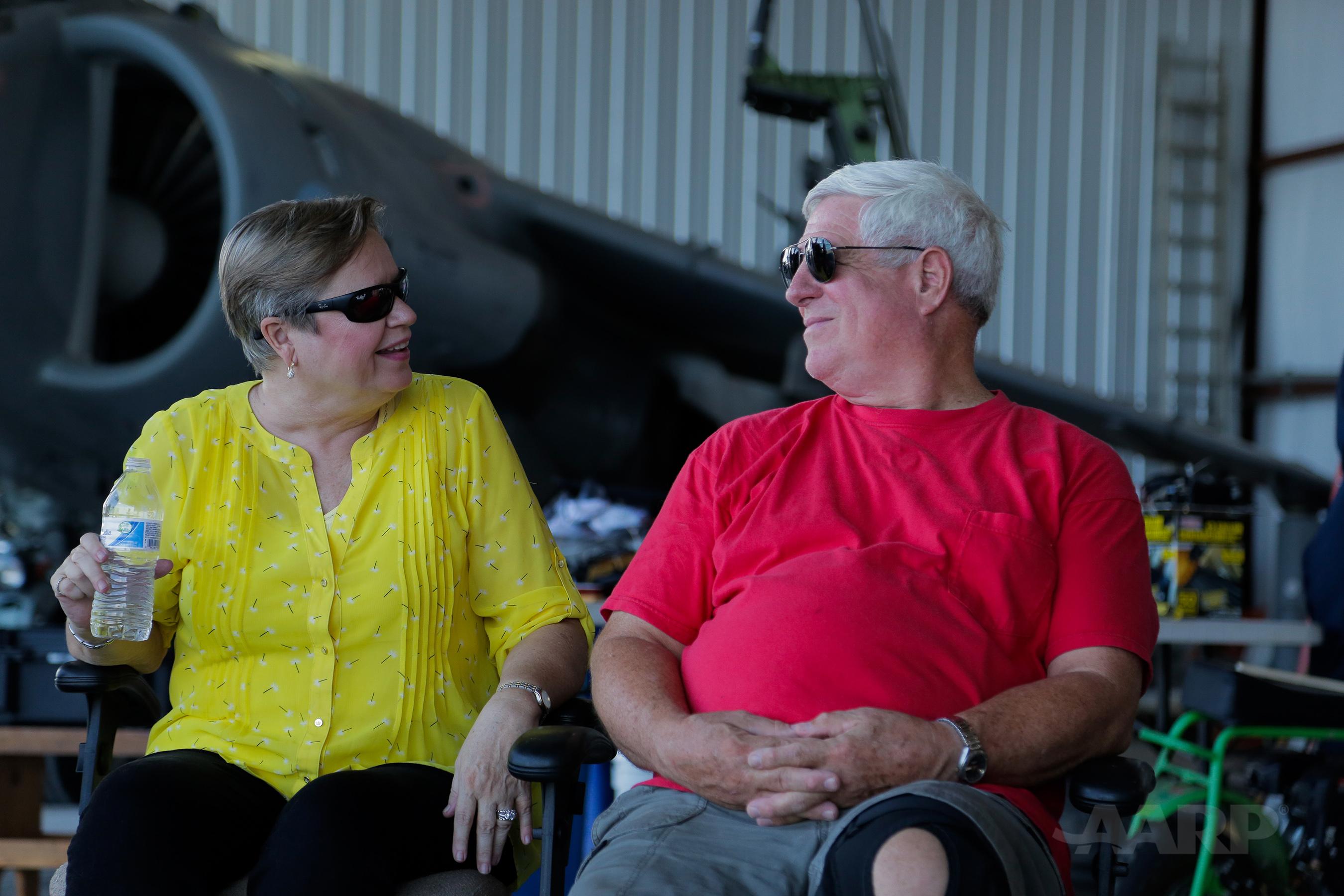 Art Nalls and his wife Pat Hatfield-Nalls. Photographer Credit: AARP Studios.