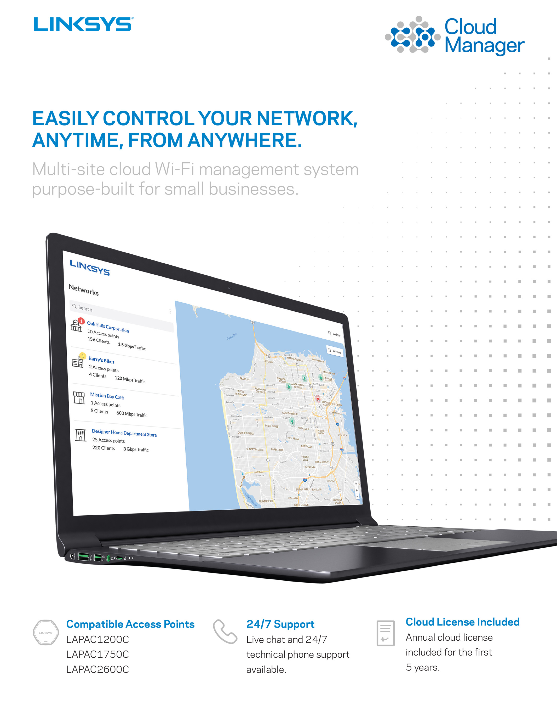 Linksys Cloud Manager Data Sheet