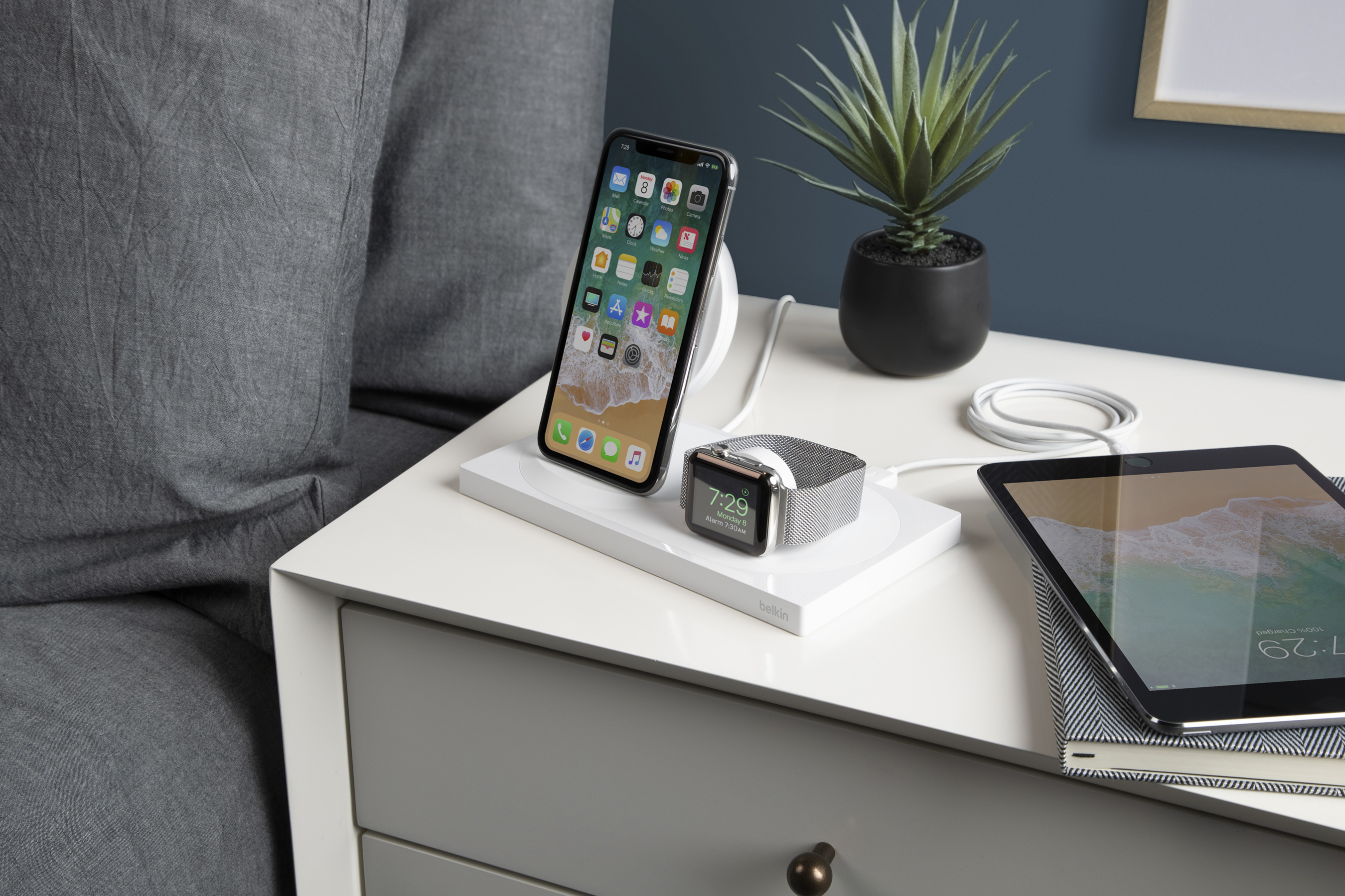 BOOSTUP Wireless Charging Dock for Apple Watch and iPhone